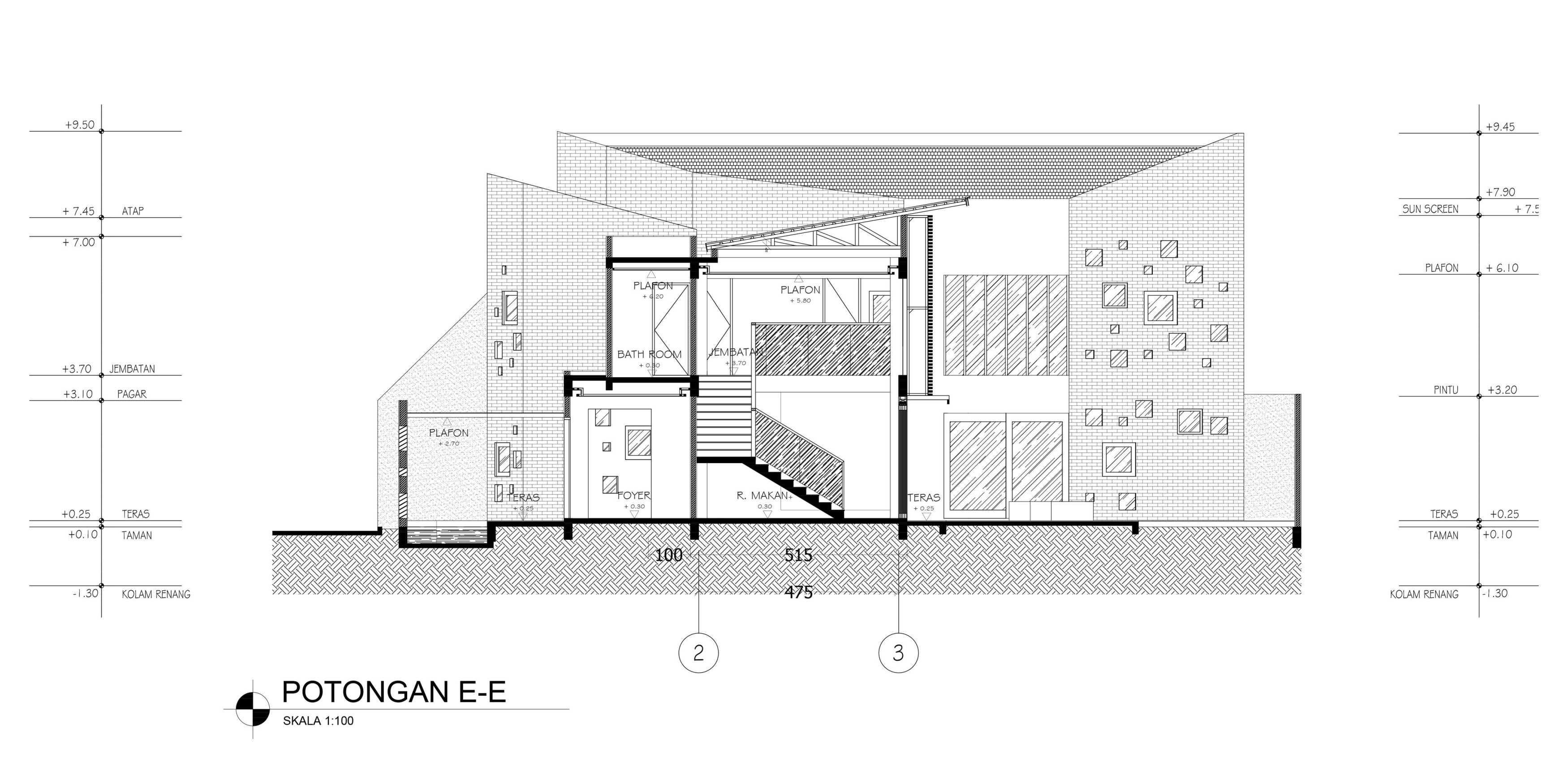 Mahastudio & Partner Oblique House Jati Asih, Bekasi Jati Asih, Bekasi Section-E Kontemporer  25621