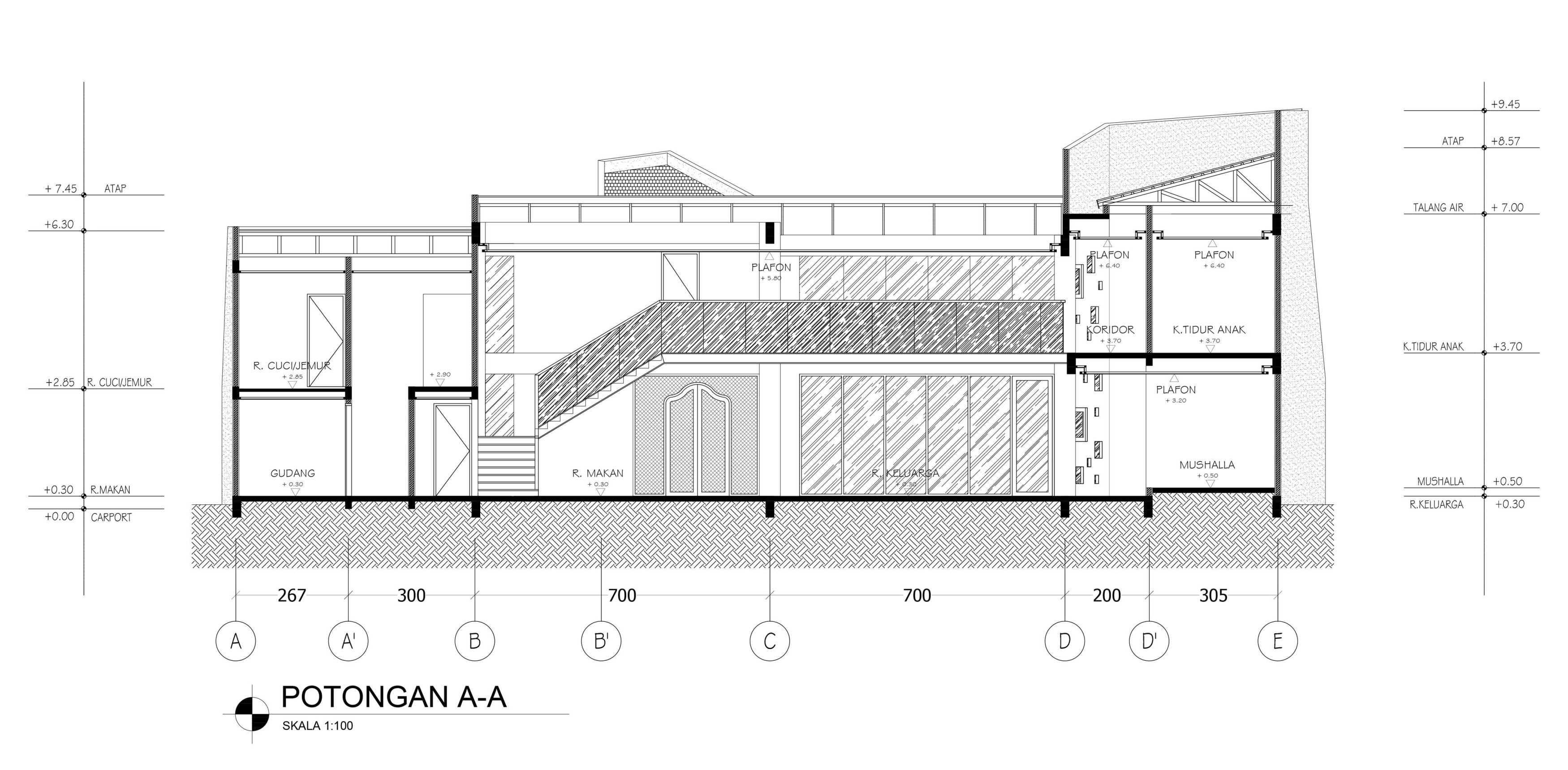 Mahastudio & Partner Oblique House Jati Asih, Bekasi Jati Asih, Bekasi Section-A Kontemporer  25623