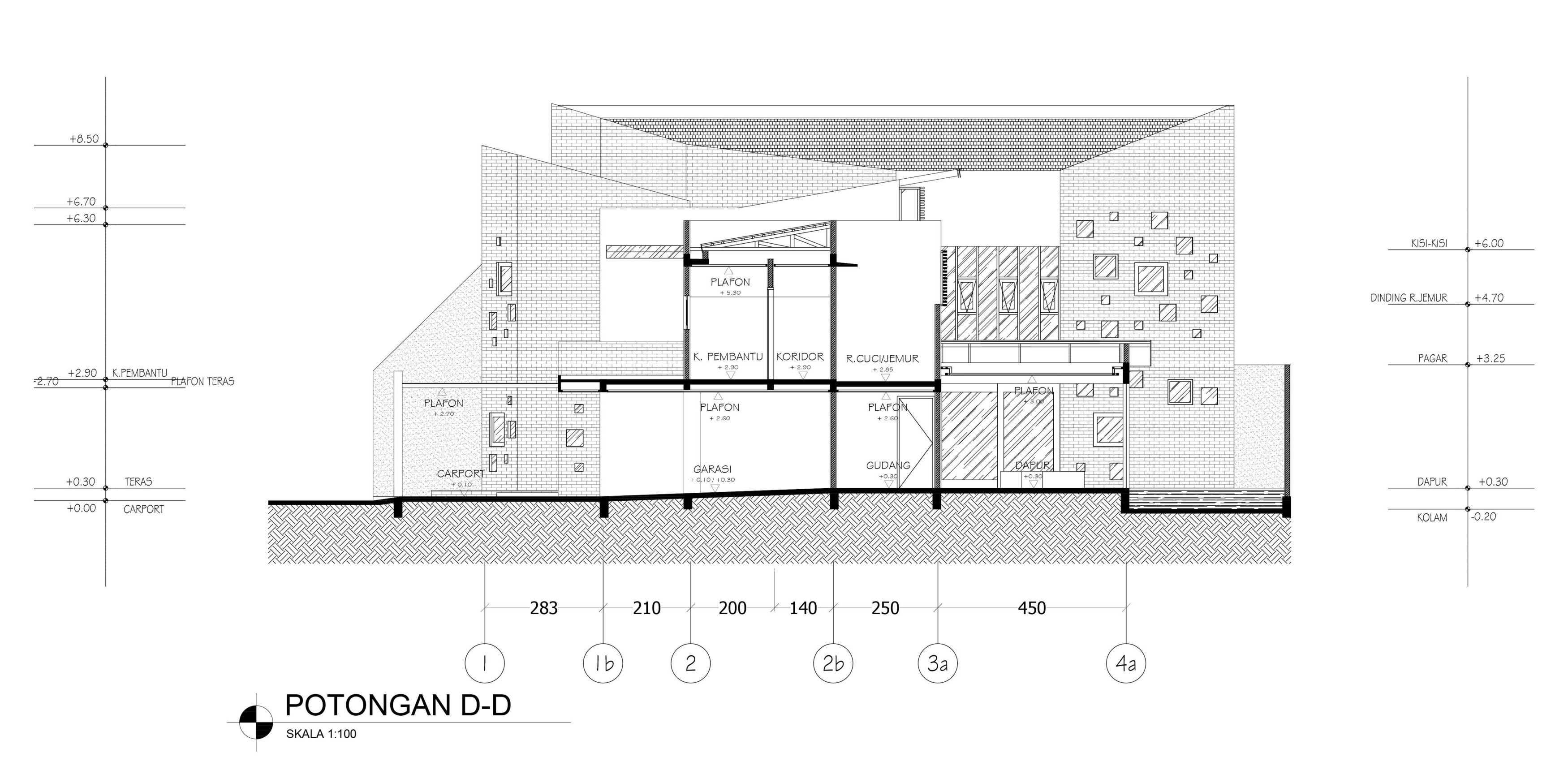 Mahastudio & Partner Oblique House Jati Asih, Bekasi Jati Asih, Bekasi Section-D Kontemporer  25625