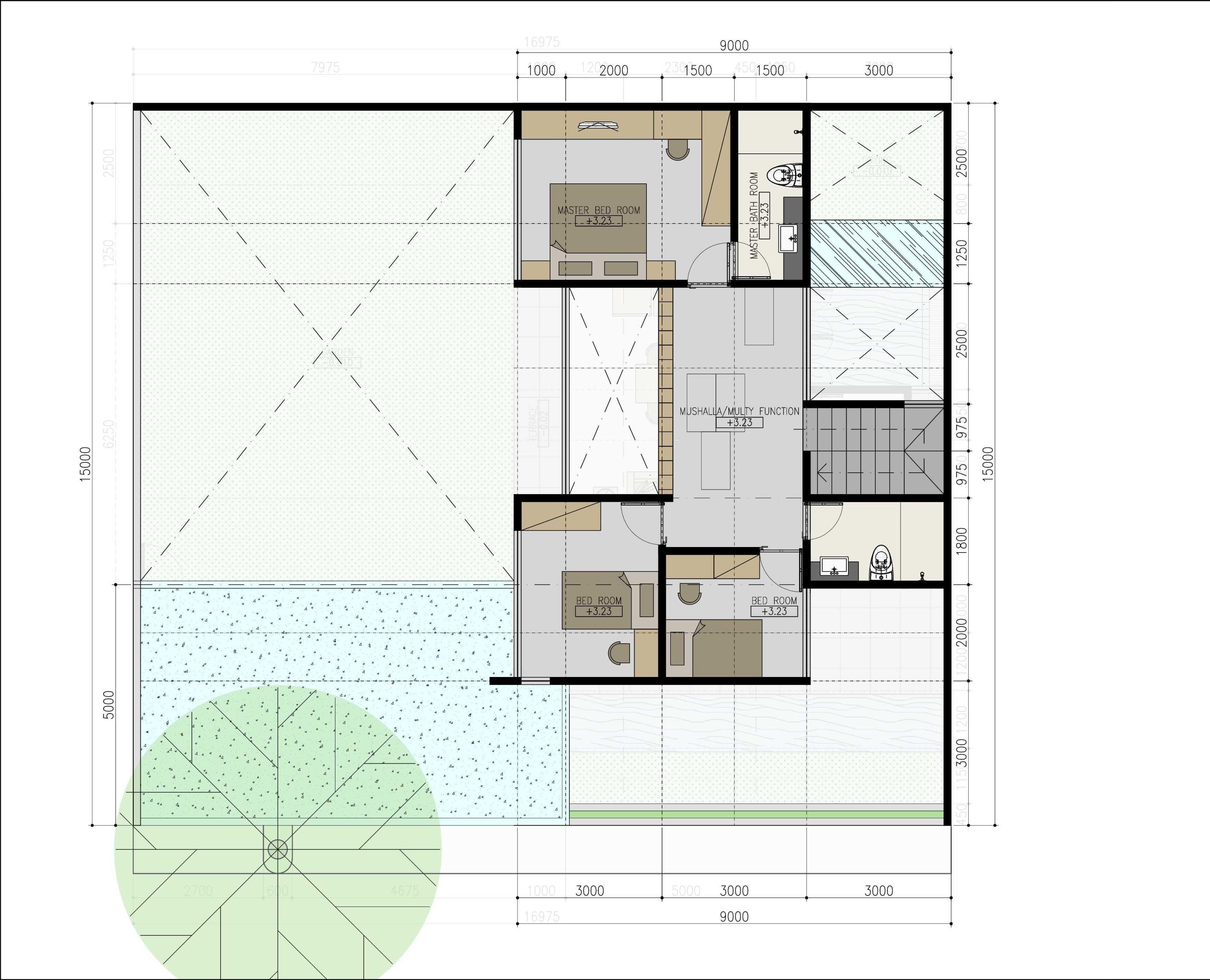 Mahastudio & Partner Renovasi Rumah Beiji Depok City, West Java, Indonesia Depok City, West Java, Indonesia Design Tropis  33338