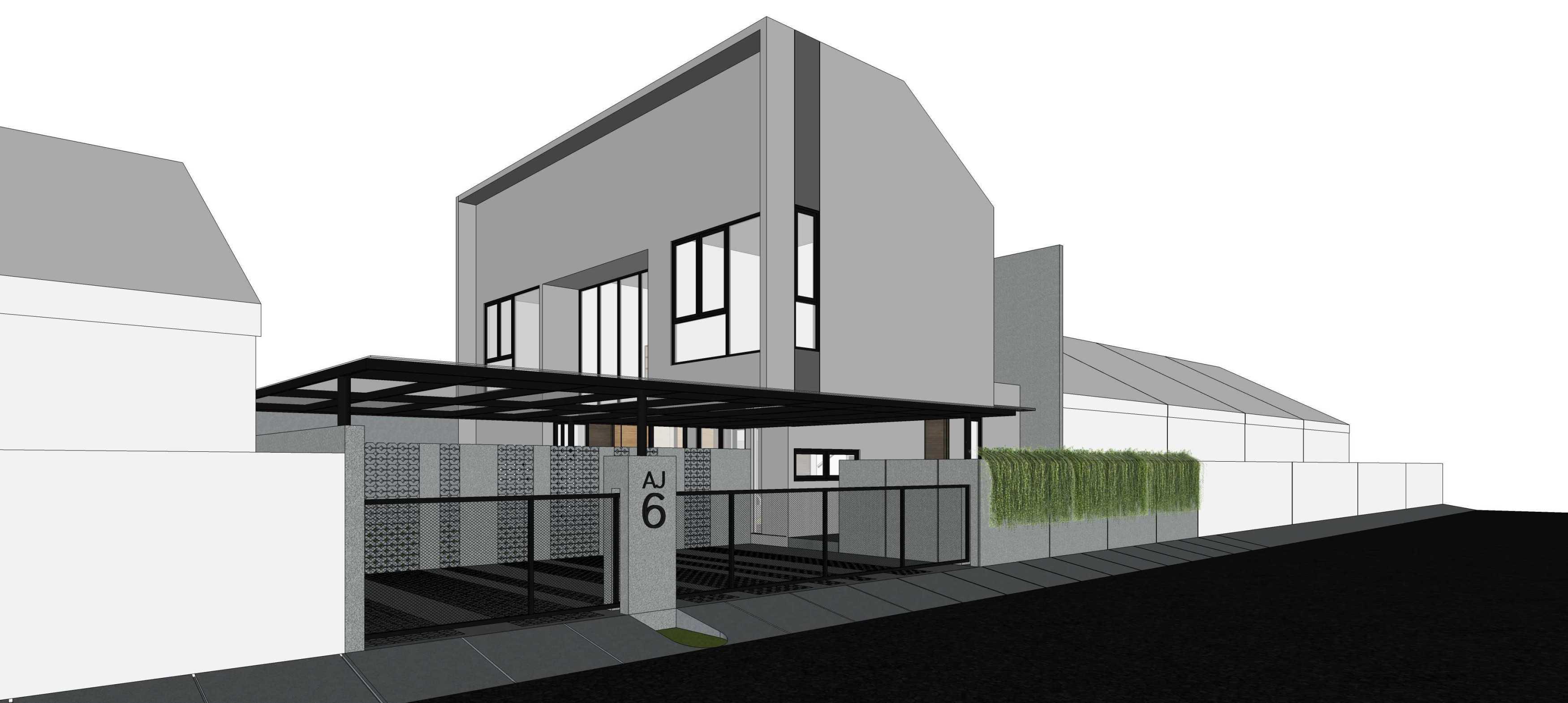 Mahastudio & Partner Renovasi Rumah Beiji Depok City, West Java, Indonesia Depok City, West Java, Indonesia Taman Samping Tropis  33343