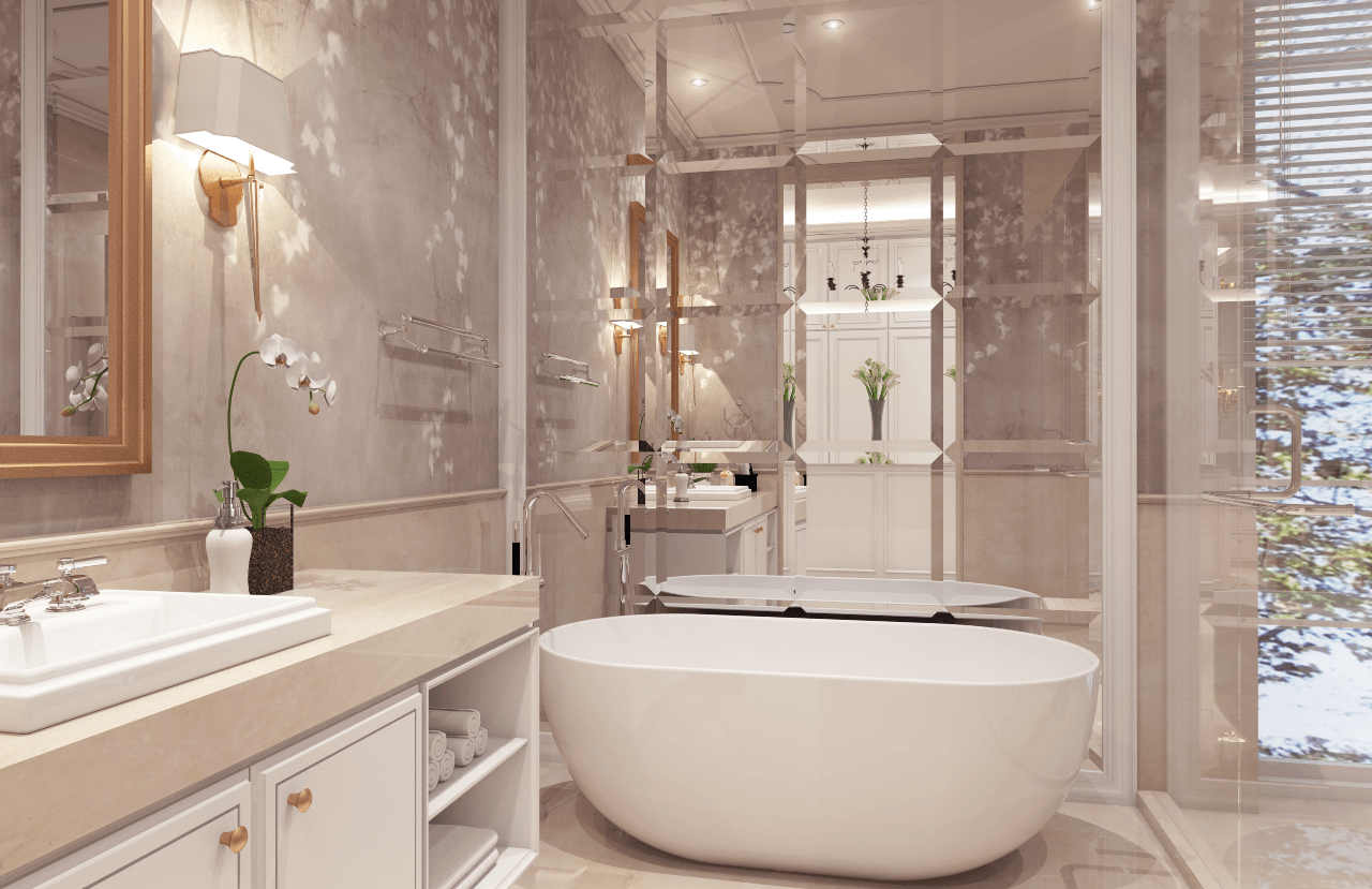 Nva Interior Taman Resort Mediterania - Pantai Indah Kapuk Pantai Indah Kapuk Pantai Indah Kapuk Master Bedroom - Bathroom   25759