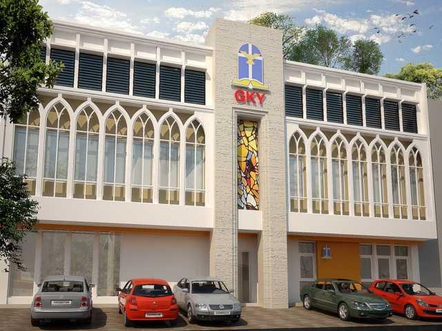 Dtarchitekt Gky Surabaya Church Kota Sby, Jawa Timur, Indonesia  Gky-Surabaya-View-01-Rev-01   34725