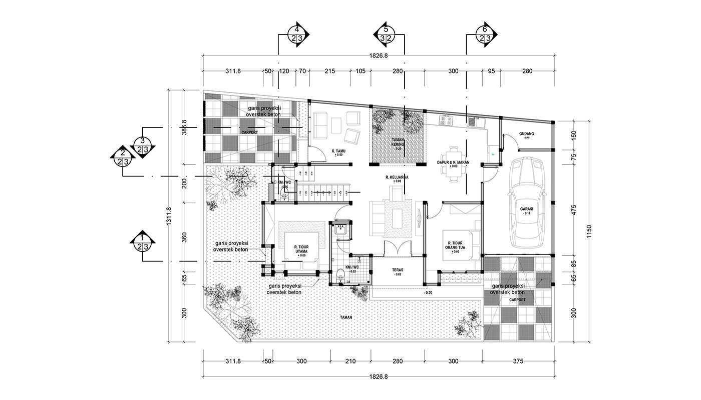 Rekabentuk Id N.y. House Bandung, Jawa Barat Bandung, Jawa Barat Denah Lantai Dasar Modern  33503