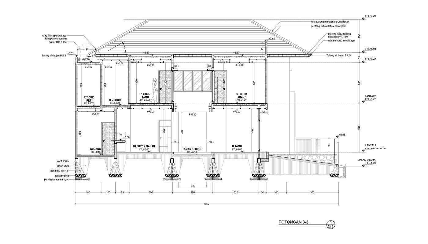 Rekabentuk Id N.y. House Bandung, Jawa Barat Bandung, Jawa Barat Potongan Modern  33507