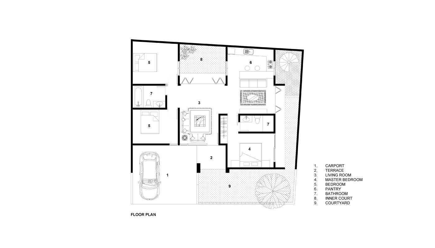 Rekabentuk Id E.j. House Cimanggis, Kota Depok, Jawa Barat, Indonesia Cimanggis, Kota Depok, Jawa Barat, Indonesia Denah Minimalis  44812