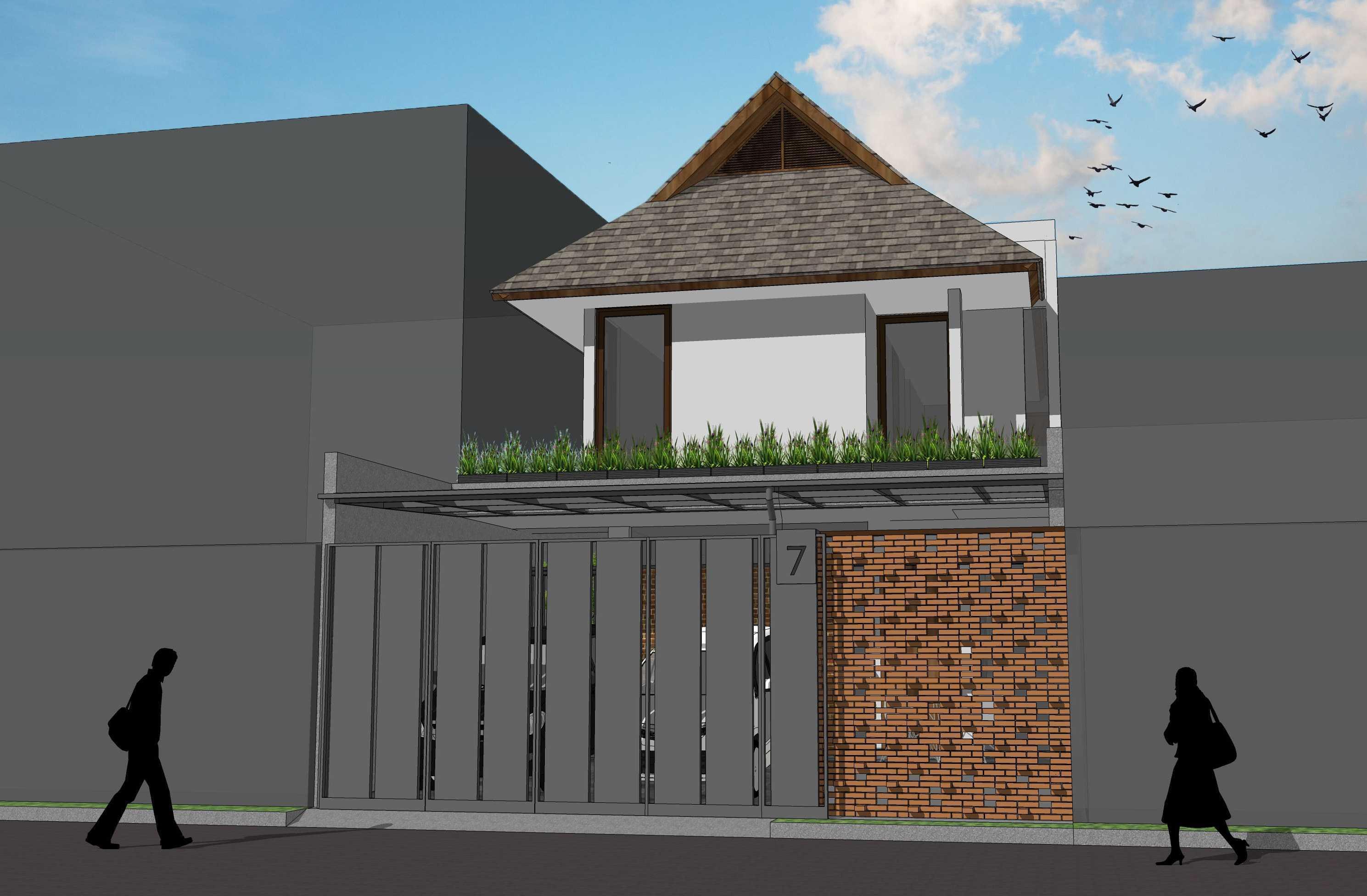 Pt. Modula Petukangan House Petukangan, Tangerang Petukangan, Tangerang Fasad Of The House Kontemporer  26659