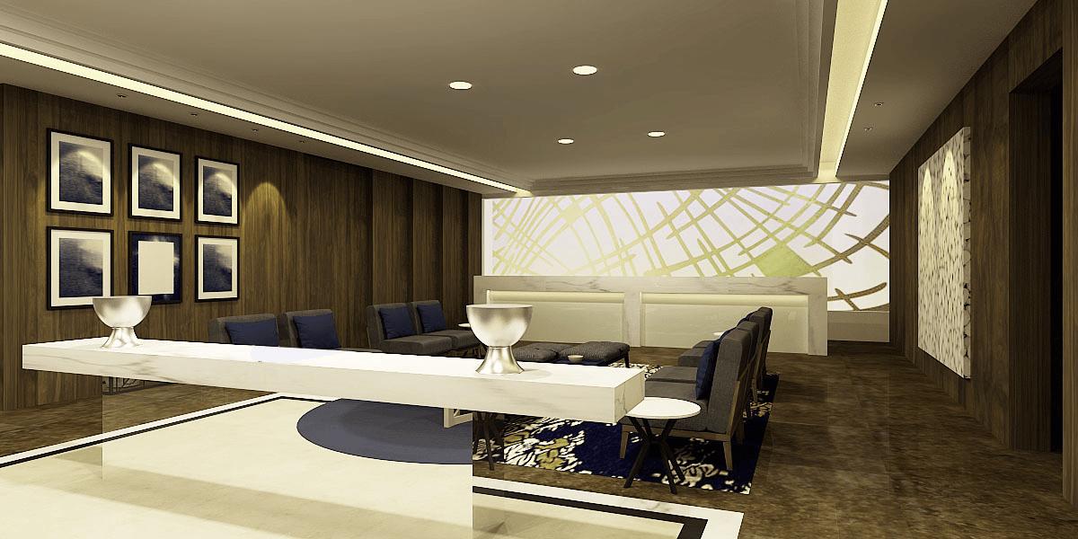 Pt. Modula Erha Clinic Kemanggisan  Jakarta Jakarta Lobby Perspective Modern  27113