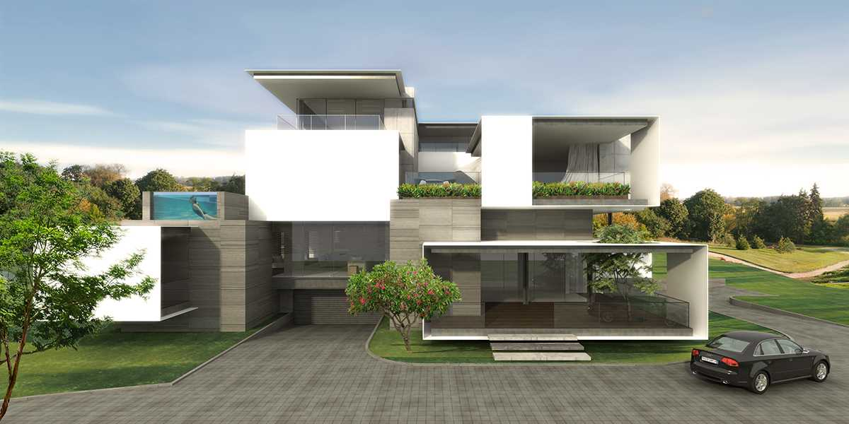 Spark Architects S Residence Palembang Palembang Golf-House-01-Main-Entrance-Clean Modern  28222