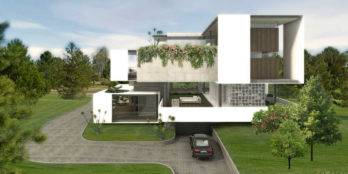 Spark Architects S Residence Palembang Palembang Golf-House-02-View-Towards-Inner-Court-Clean Modern  28223