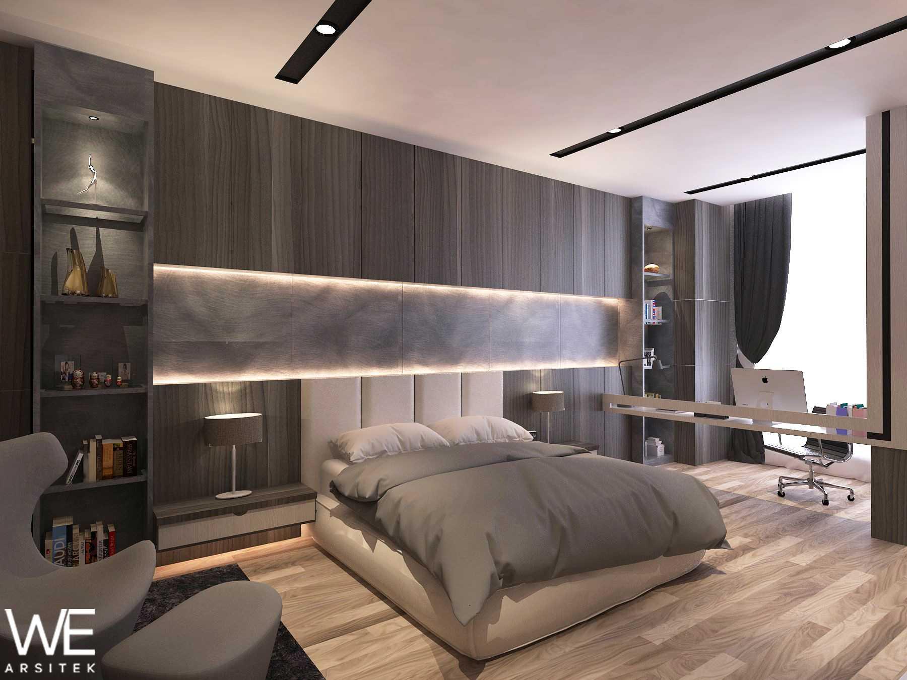 We Arsitek Li Residence - Contemporary Kota Medan, Sumatera Utara, Indonesia Kota Medan, Sumatera Utara, Indonesia Master Bedroom   45717