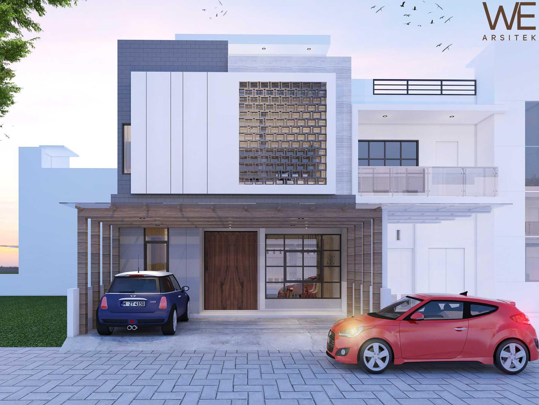 We Arsitek Li Residence - Contemporary Kota Medan, Sumatera Utara, Indonesia Kota Medan, Sumatera Utara, Indonesia Front View Rendering   45721