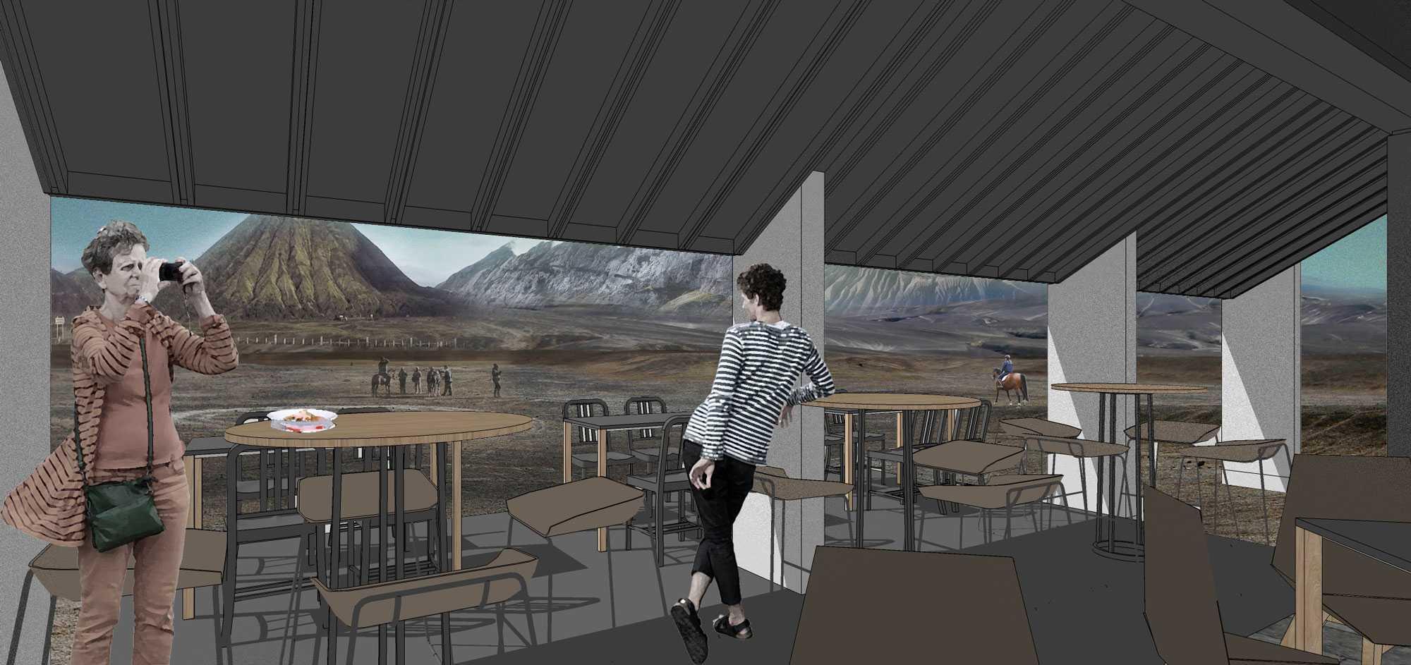 Fabdesain B_Restaurant Gn. Bromo, Podokoyo, Tosari, Pasuruan, Jawa Timur, Indonesia Gn. Bromo, Podokoyo, Tosari, Pasuruan, Jawa Timur, Indonesia Seating Area Restaurant Contemporary  40519