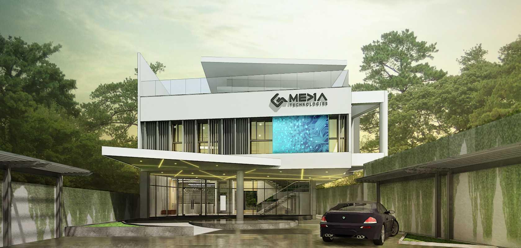 Rerupa Architecture G-Media Office Sleman, Yogyakarta, Indonesia Sleman, Yogyakarta, Indonesia Front View Kontemporer  28950