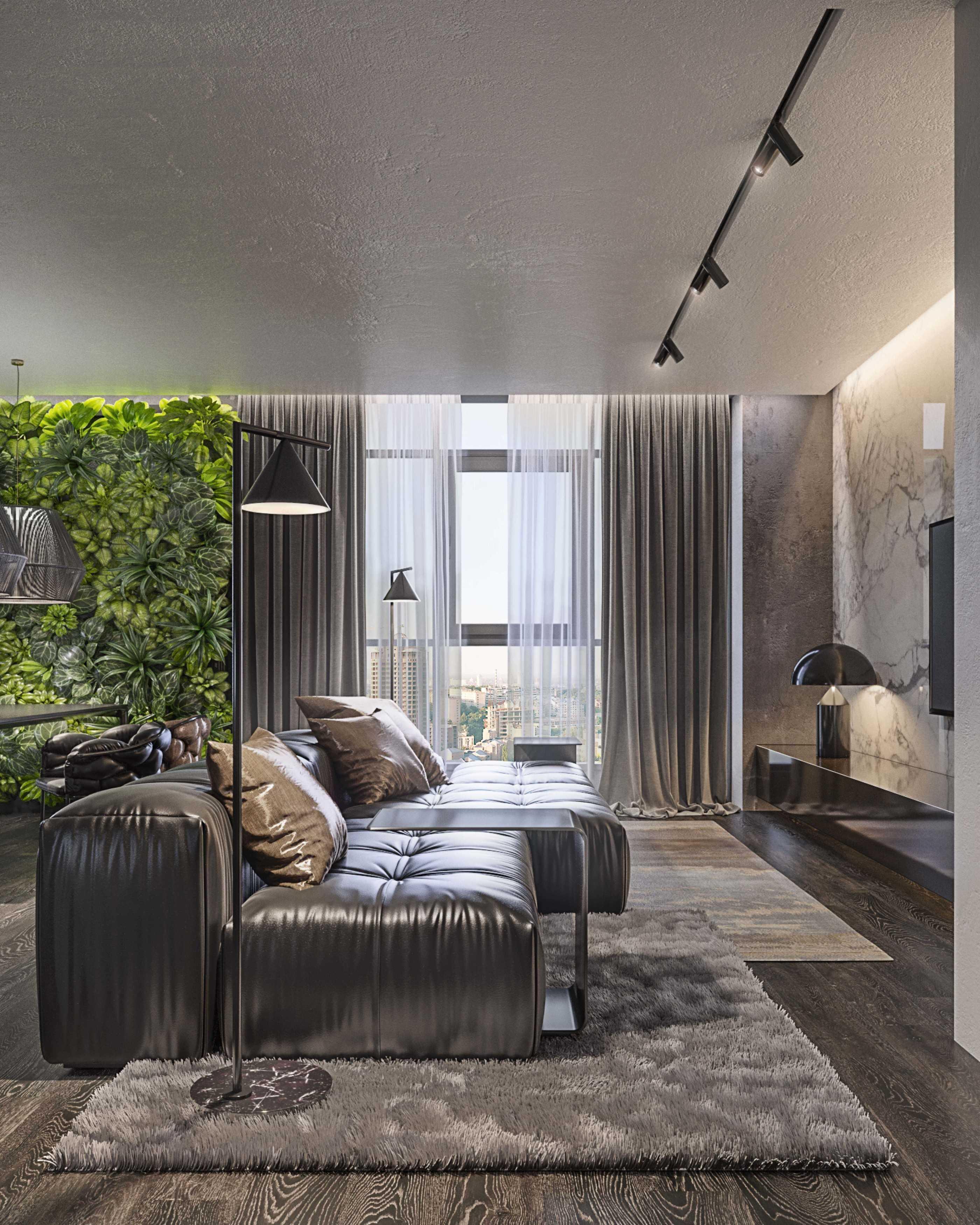 Dmitriy Myakota Stylish Men's Apartment In Kiev Kiev Kiev Living Room   29265