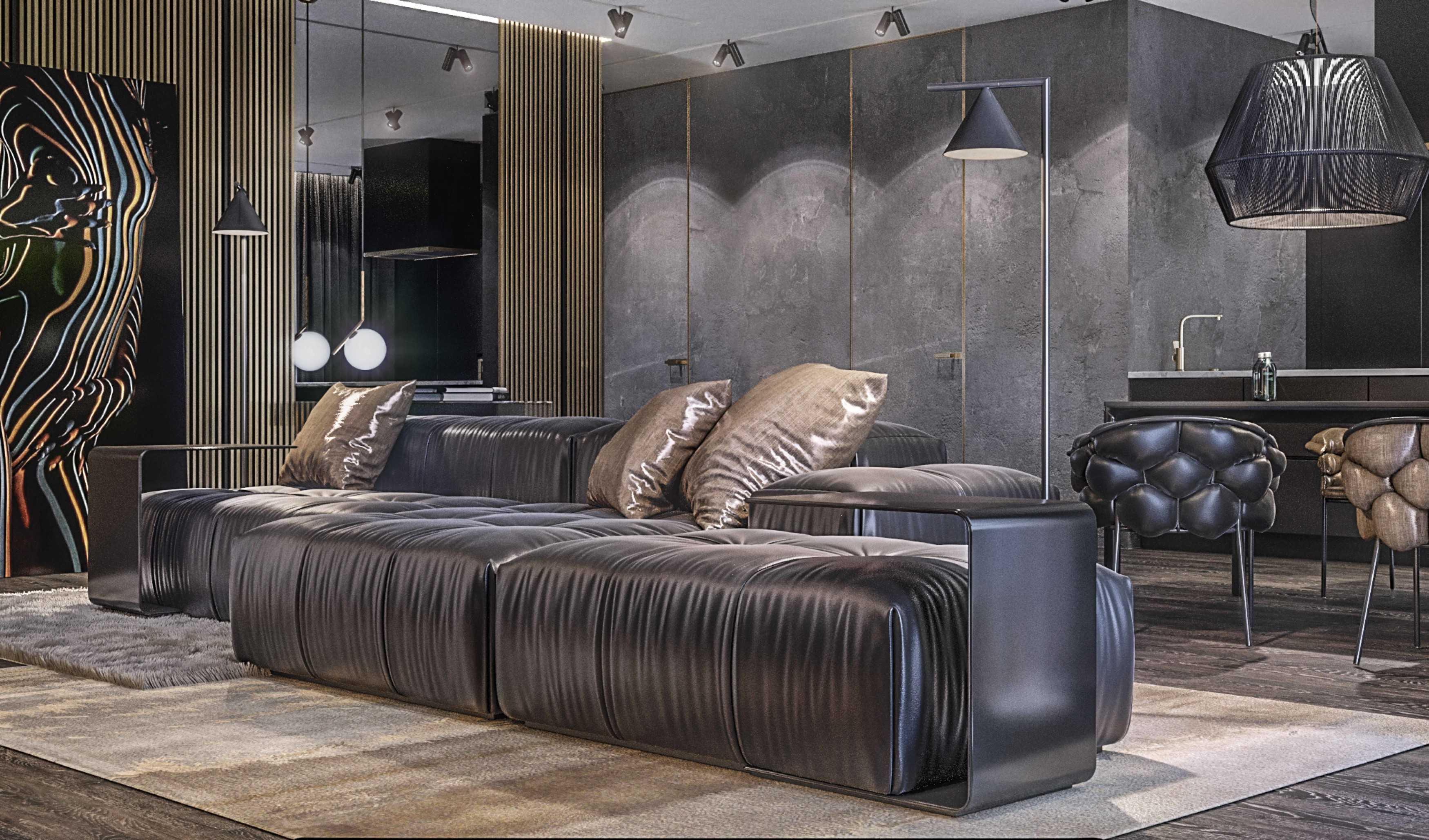 Dmitriy Myakota Stylish Men's Apartment In Kiev Kiev Kiev Living Room   29272