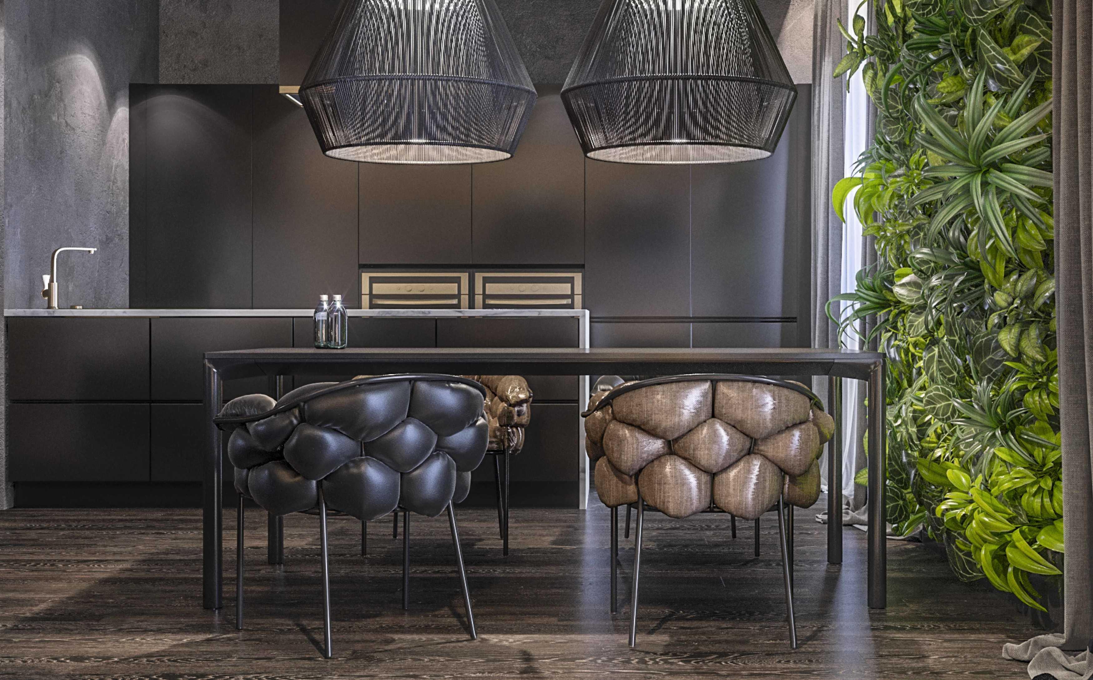 Dmitriy Myakota Stylish Men's Apartment In Kiev Kiev Kiev Dining Room   29274