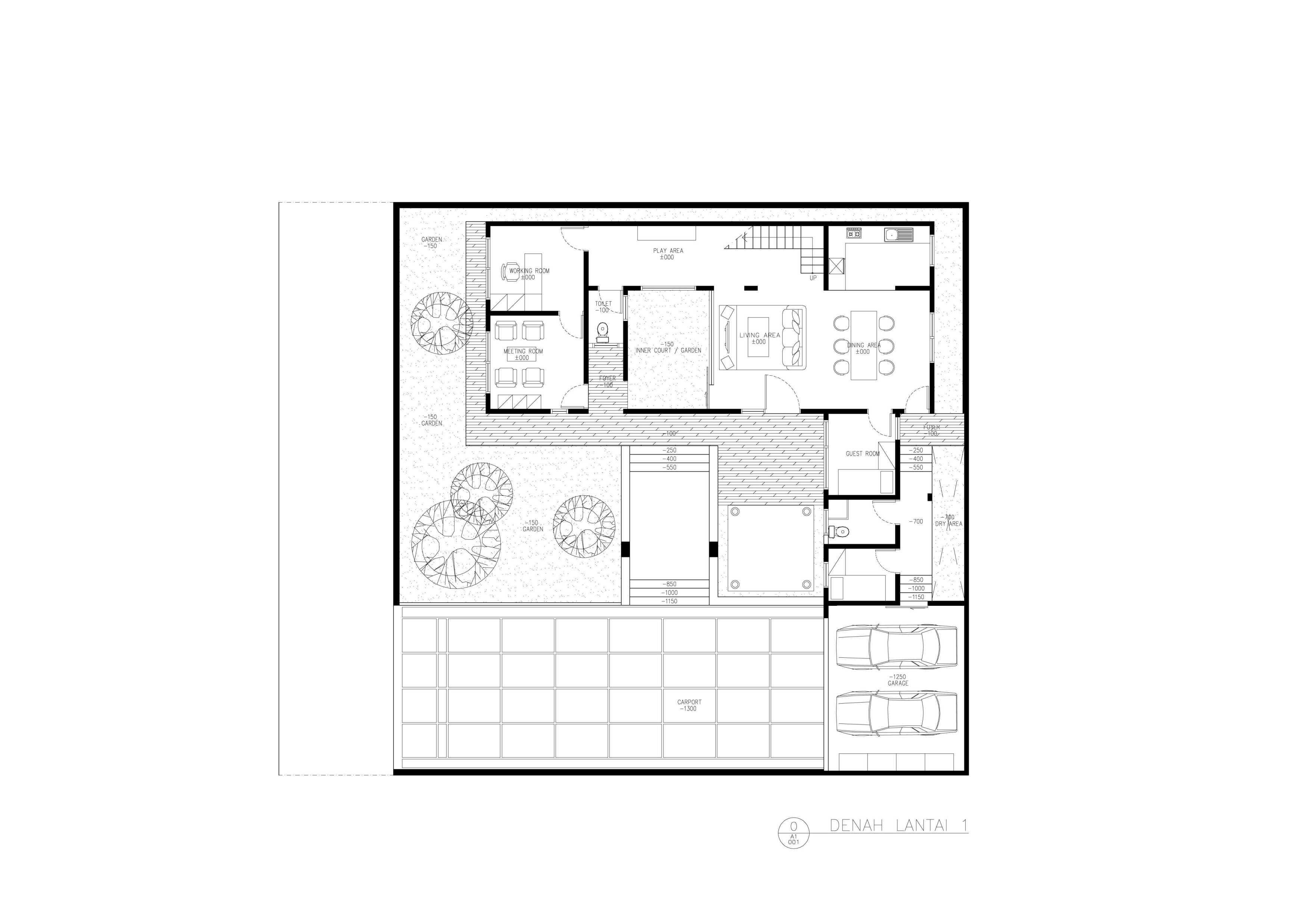 Amorta Design Studio Rumah F Manokwari Manokwari Denah-Rumah-F-01   29373