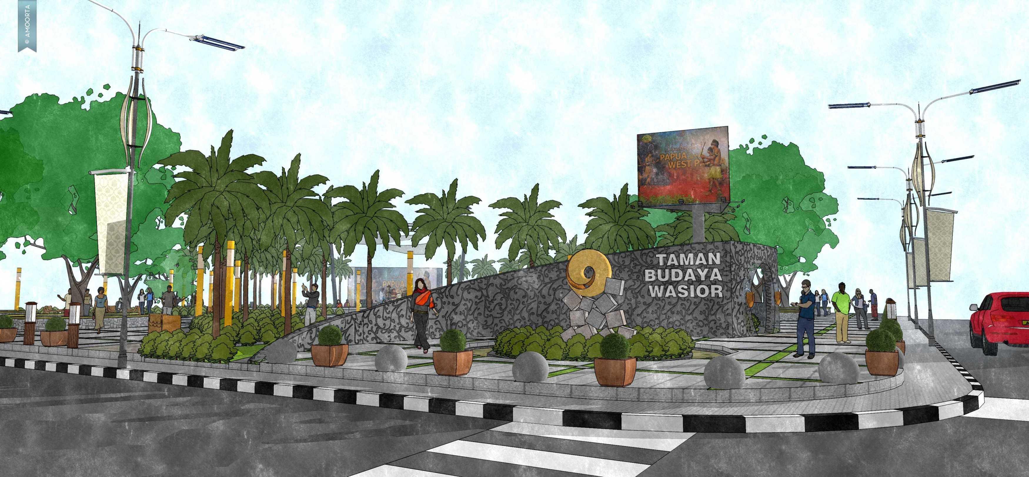 Amorta Design Studio Taman Kota Wasior Wasior Papua Wasior Papua 20130128-Taman-Budaya-Papua08 Modern  29405