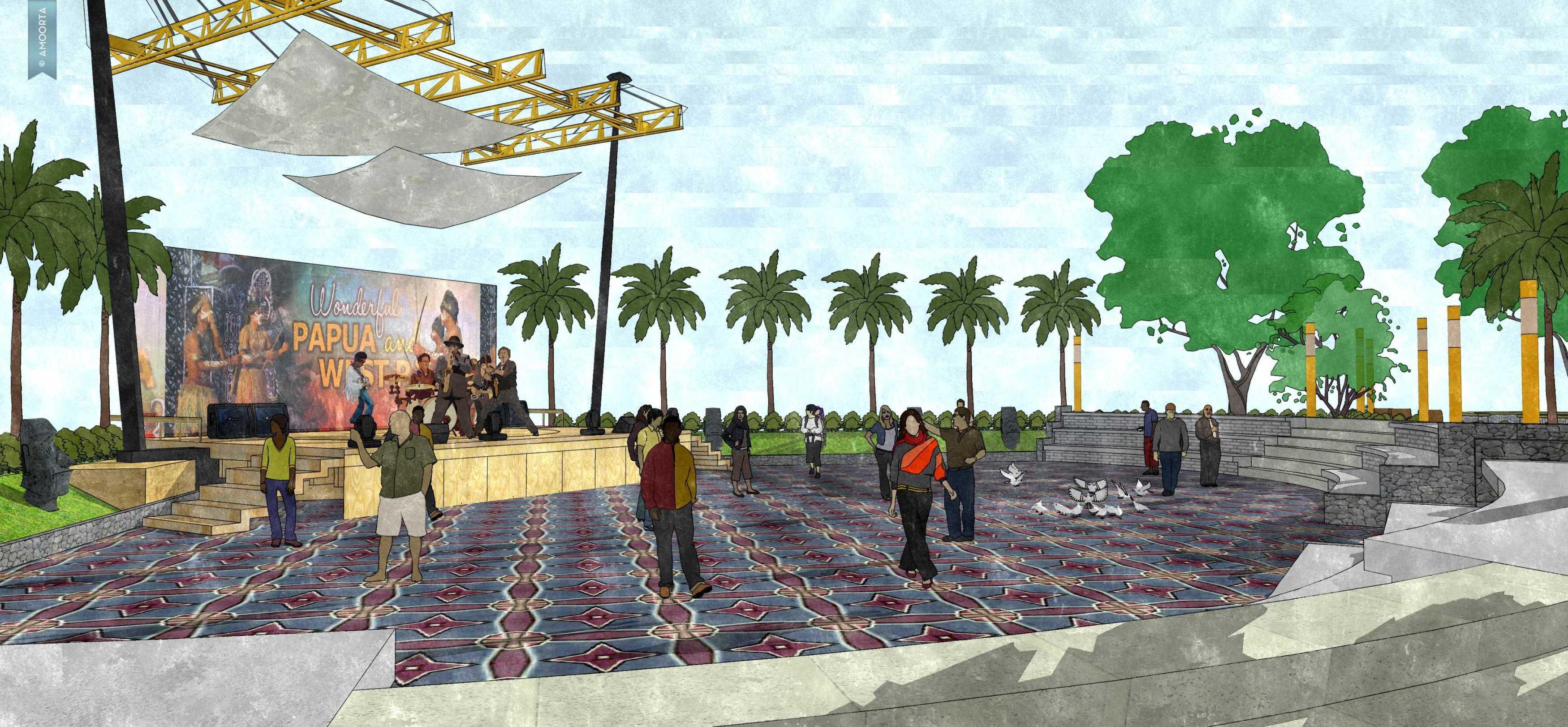 Amorta Design Studio Taman Kota Wasior Wasior Papua Wasior Papua 20130128-Taman-Budaya-Papua18 Modern  29410