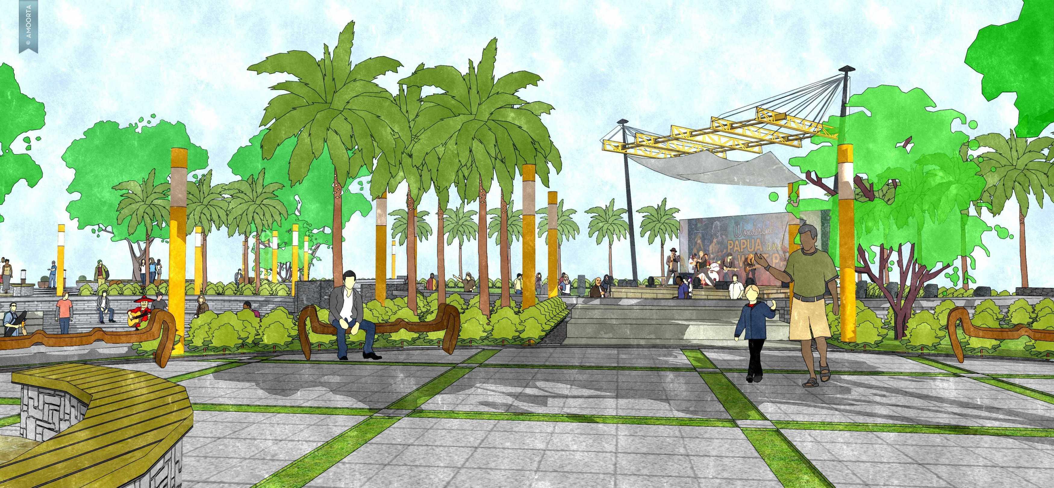 Amorta Design Studio Taman Kota Wasior Wasior Papua Wasior Papua 20130128-Taman-Budaya-Papua17 Modern  29411