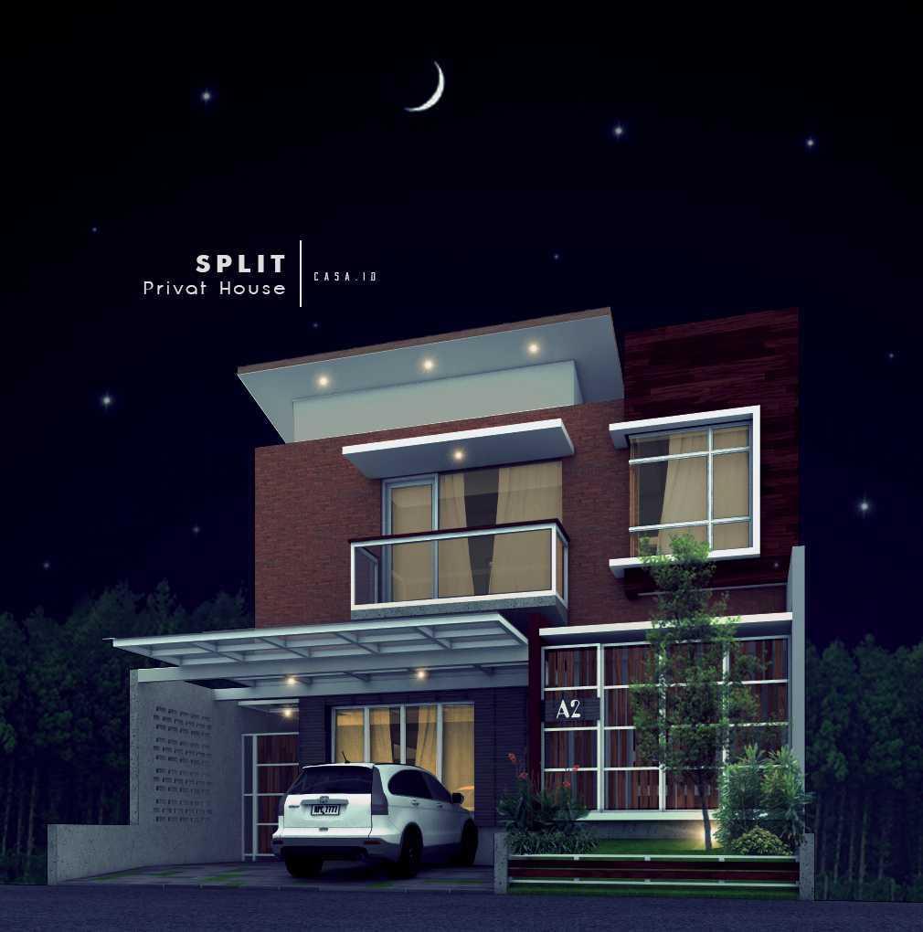 Casa.id Architecture & Design Dyg01 Pekanbaru, Kota Pekanbaru, Riau, Indonesia Pekanbaru, Kota Pekanbaru, Riau, Indonesia Facade View At Night Contemporary  40563