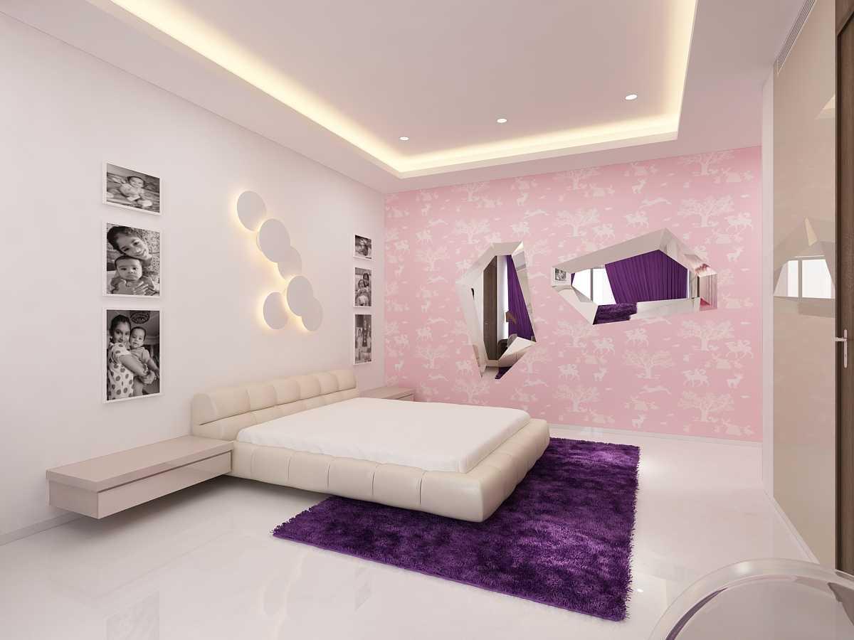 Saka Design Lab Private Residential _ 2 Dhanori Lohagaon Rd, Kutwal Colony, Lohgaon, Pune, Maharashtra 412105, India India Daughter-Bedroom-C3 Modern  34997