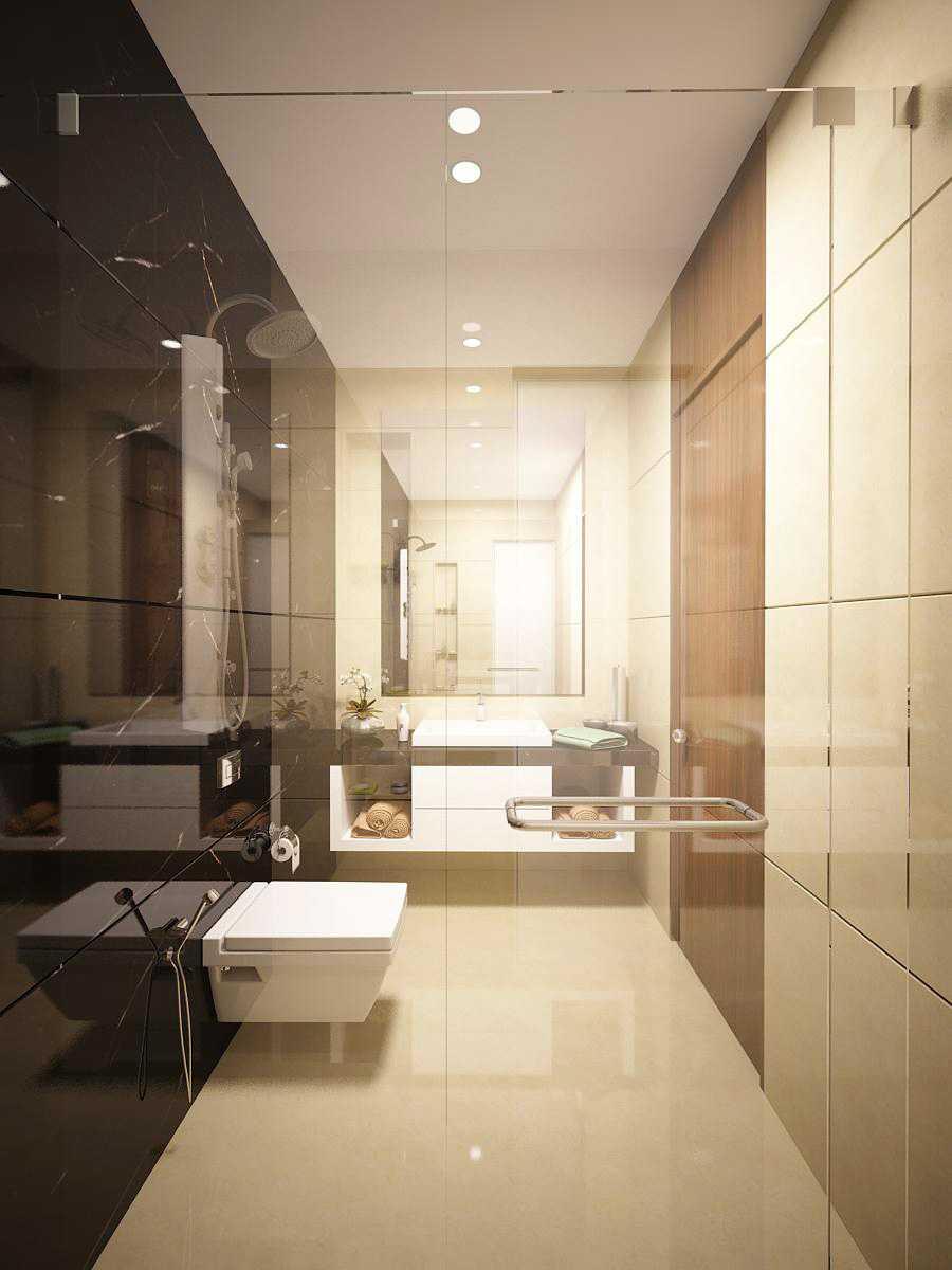 Saka Design Lab Private Residential _ 2 Dhanori Lohagaon Rd, Kutwal Colony, Lohgaon, Pune, Maharashtra 412105, India India Guest-Toilet-02-02 Modern  35007