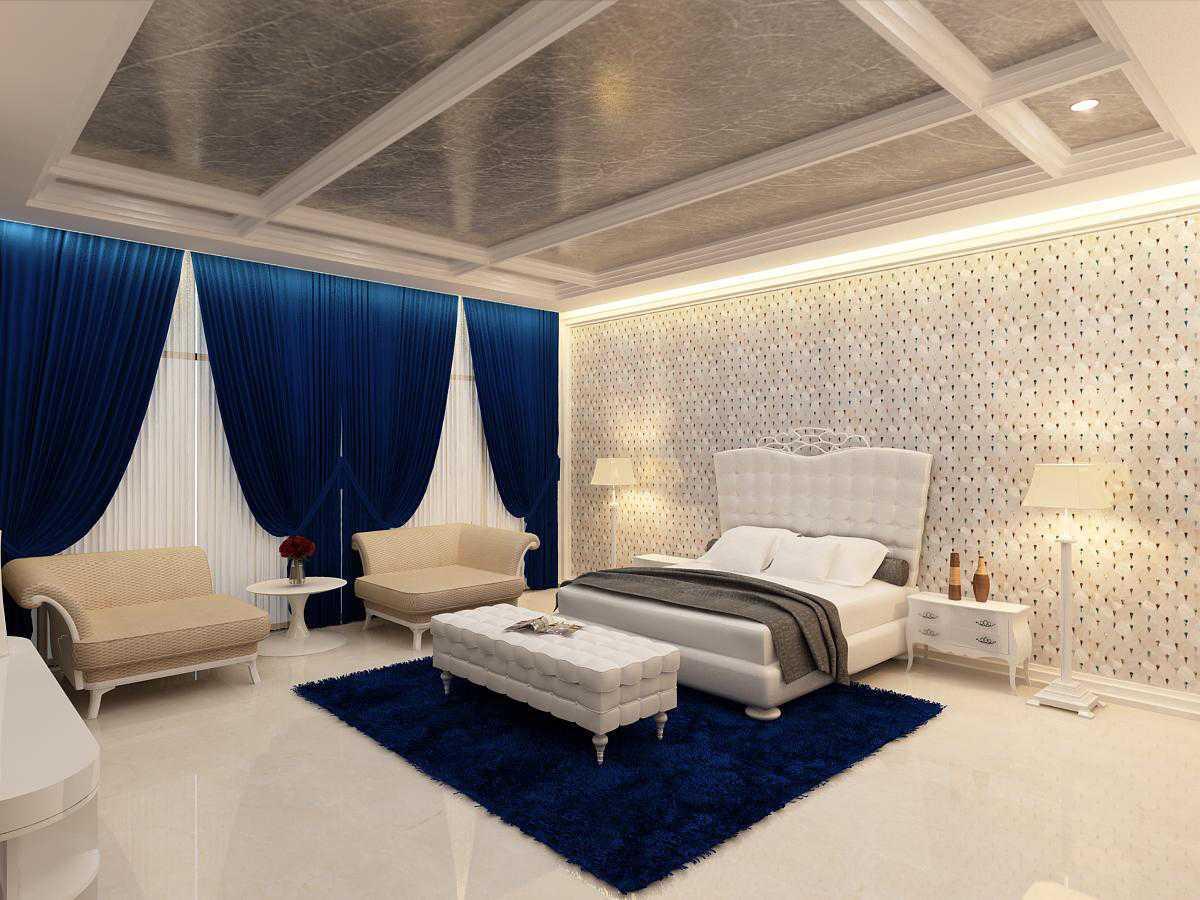 Saka Design Lab Private Residential _ 3 India India Master-Bed-C1Rev2 Kontemporer  35022