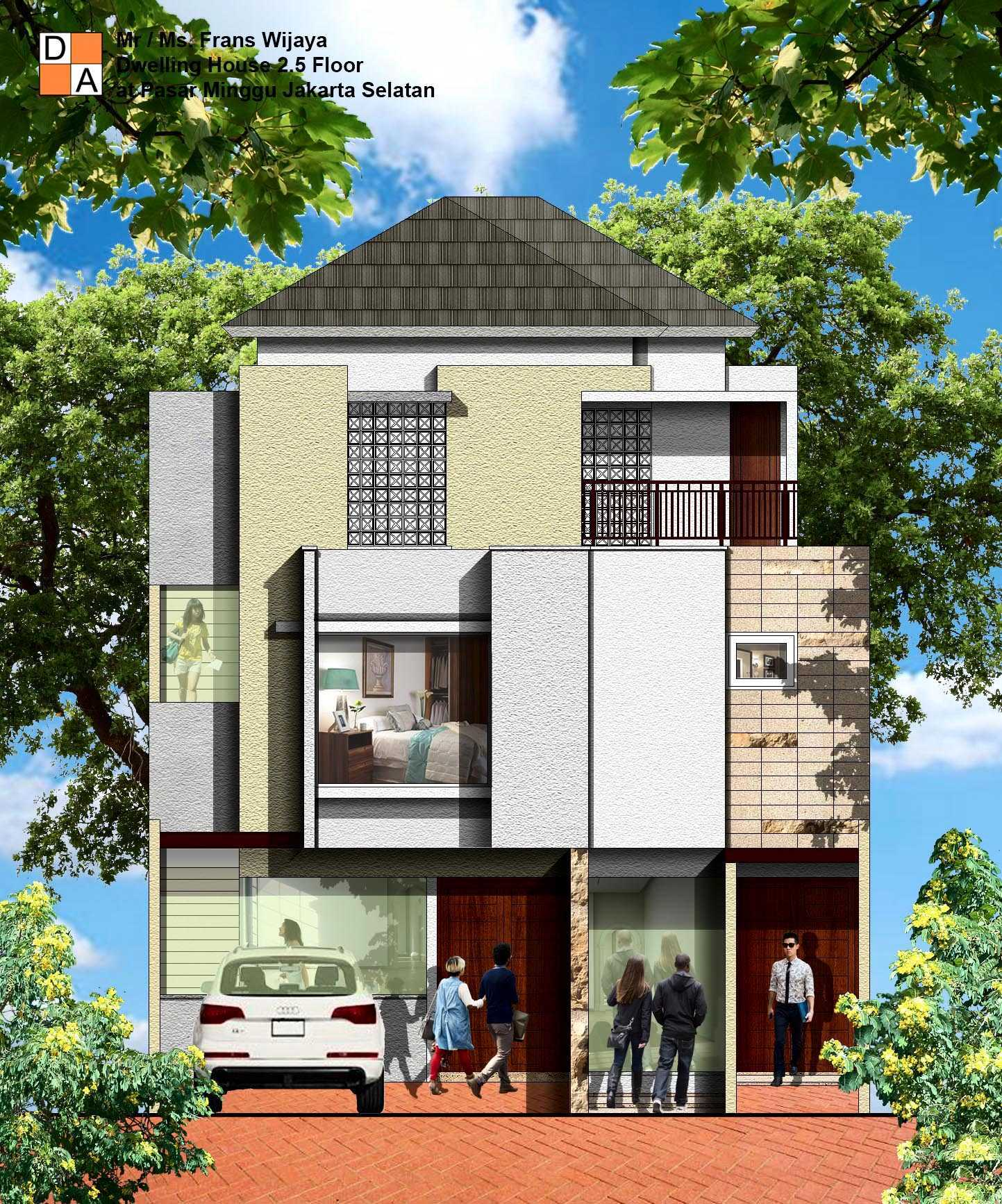Photo Front View Rendering Dwelling House 2 5 And Shop Modern