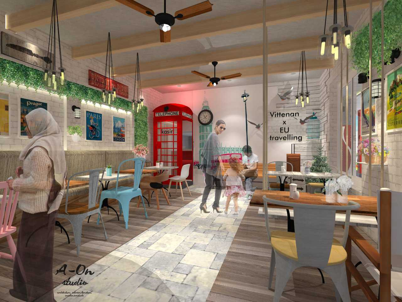 A-On Studio Vittenan Cafe And Resto Kebumen Regency, Central Java, Indonesia Kebumen Regency, Central Java, Indonesia Lt1-B Industrial,kontemporer Labtai 1, Area Makan Indoor. 32823