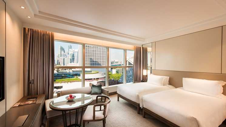 Studio Dinding Conrad Singapura Singapura Twin Bed Room Kontemporer  39638