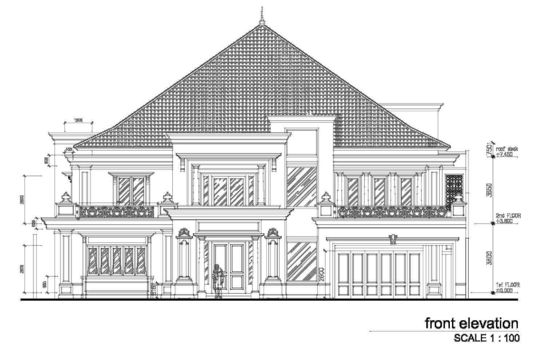 A N J A R S I T E K Classic House - Renon / Bali Renon, South Denpasar, Denpasar City, Bali, Indonesia Renon, South Denpasar, Denpasar City, Bali, Indonesia Elevation Facade Klasik  35456