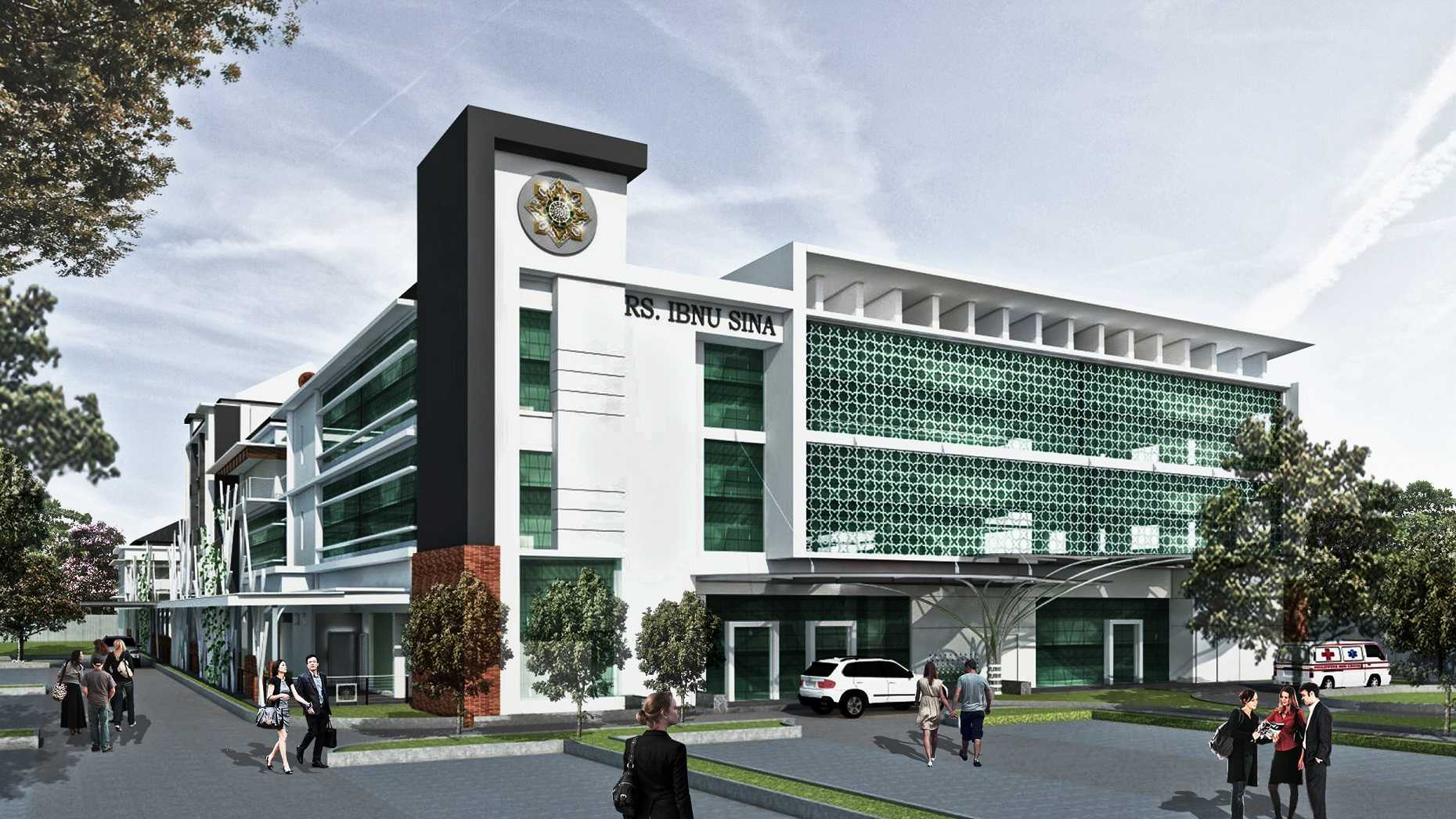 Vastu Cipta Persada Rumah Sakit Ibnu Sina Kabupaten Sragen, Jawa Tengah, Indonesia Kabupaten Sragen, Jawa Tengah, Indonesia Front View Modern  39456