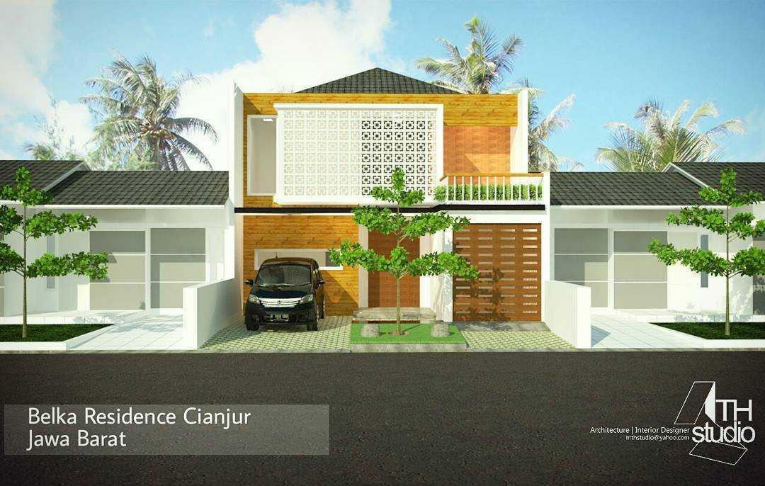 Mth Studio Rumah Belka (Renovasi) Kabupaten Cianjur, Jawa Barat, Indonesia Kabupaten Cianjur, Jawa Barat, Indonesia Front View Rendering Tropical  39633