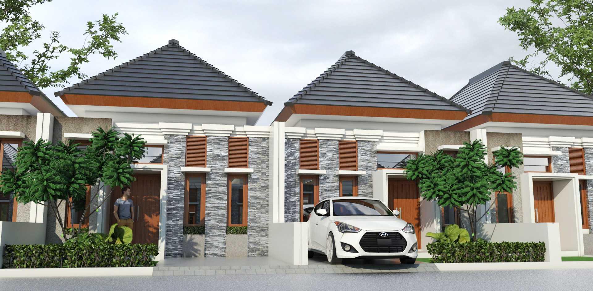 Mannor Architect Premium Cluster Modern Bogor, Jawa Barat, Indonesia Bogor, Jawa Barat, Indonesia Premium Cluster Modern - Front View Modern <P>Tampak Depan Rumah Dengan Model Fasade Bali Modern</p> 43881