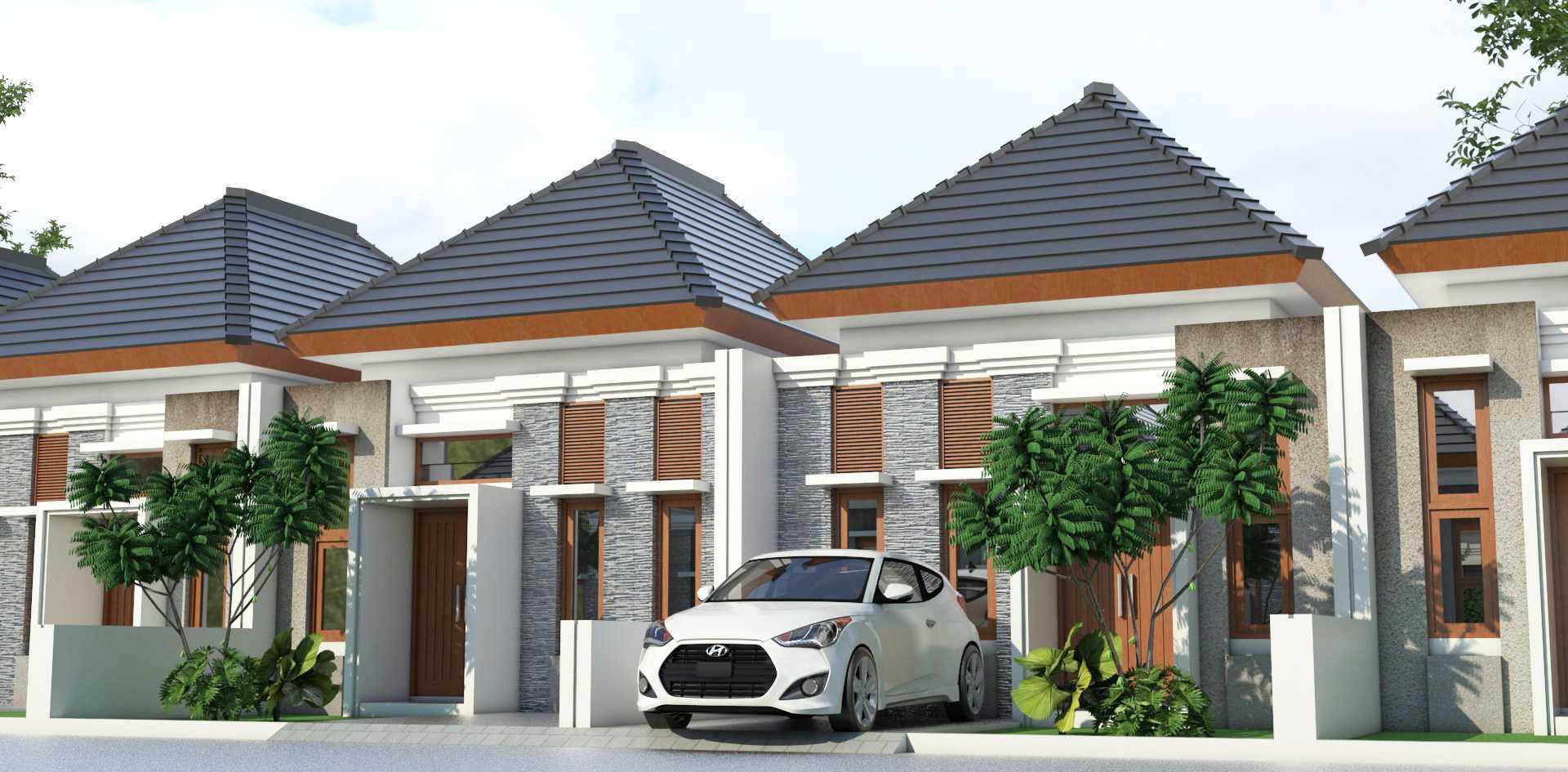 Mannor Architect Premium Cluster Modern Bogor, Jawa Barat, Indonesia Bogor, Jawa Barat, Indonesia Premium Cluster Modern Modern <P>Tampak Depan Rumah Dengan Model Fasade Bali Modern</p> 43882