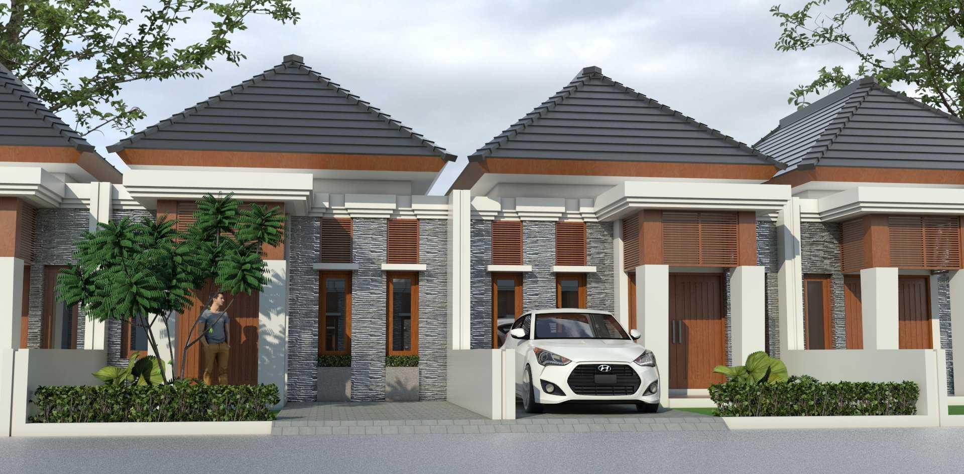 Mannor Architect Premium Cluster Modern Bogor, Jawa Barat, Indonesia Bogor, Jawa Barat, Indonesia Premium Cluster Modern - Front View Modern <P>Tampak Depan Rumah Dengan Model Fasade Bali Modern</p> 43884