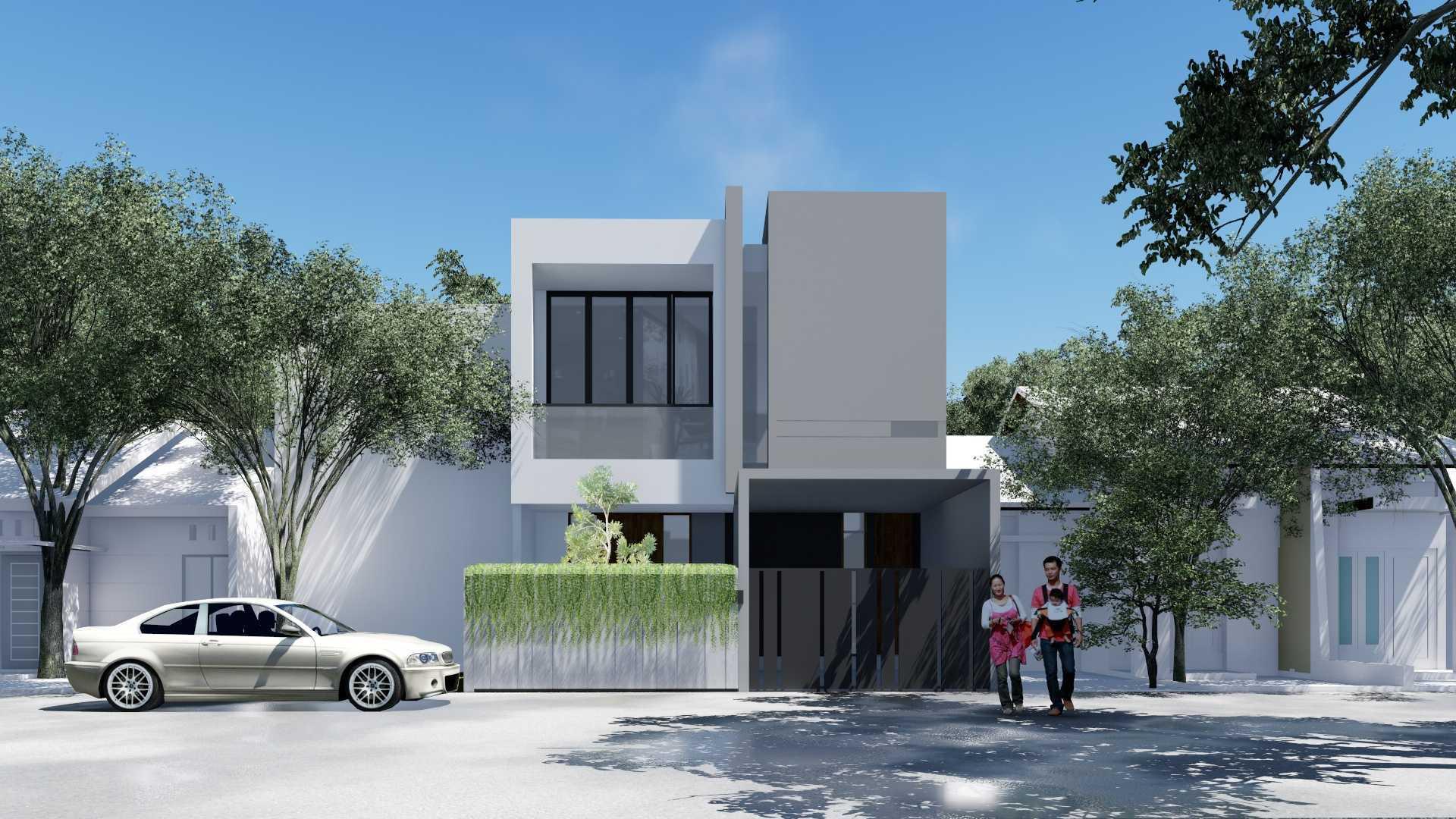 Adefa Studio Rh House Bekasi Tim., Kota Bks, Jawa Barat, Indonesia Bekasi Tim., Kota Bks, Jawa Barat, Indonesia Rh House - Front View Contemporary  45531