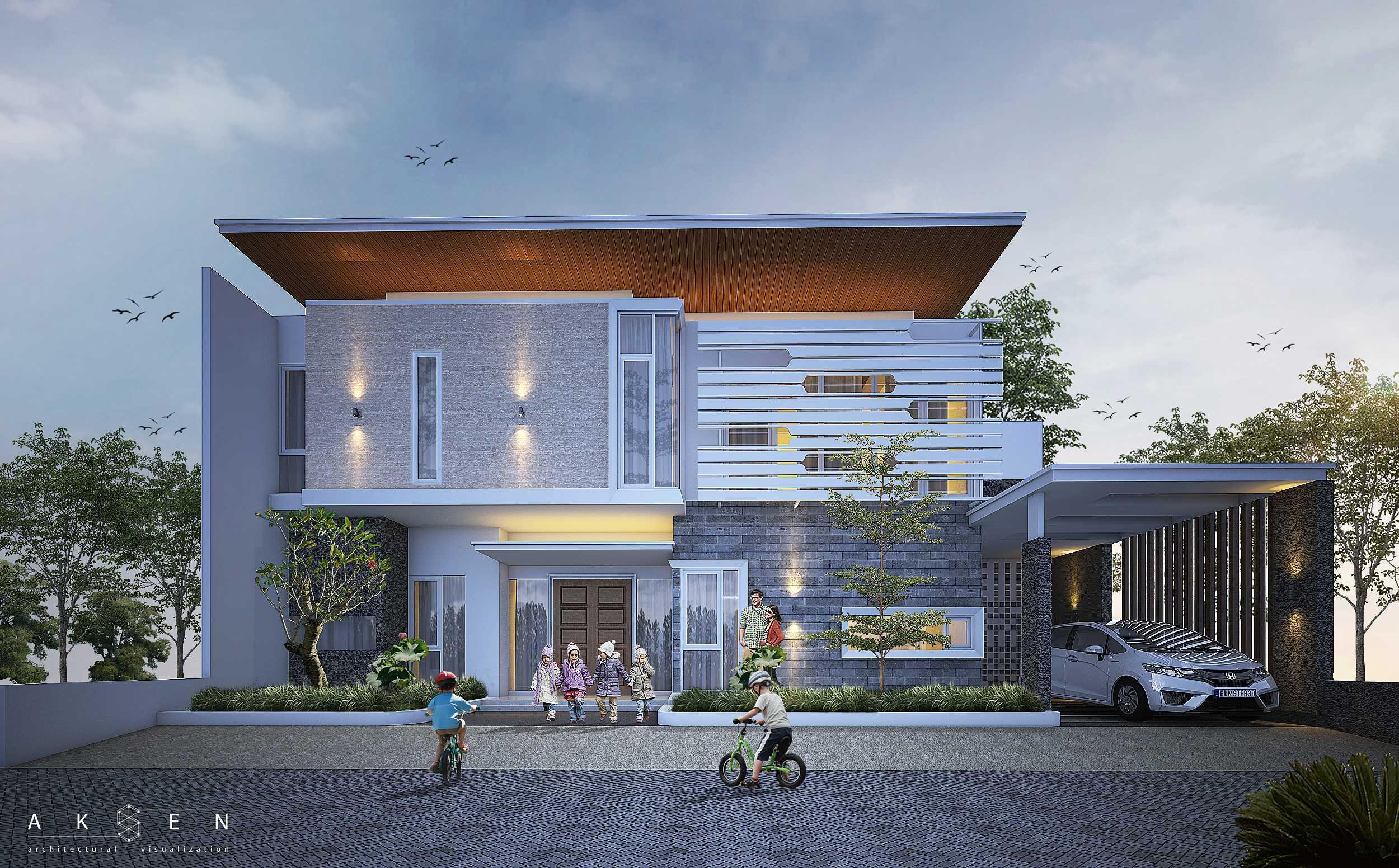 Aksen Architectural Visualization S N House Malang, Kota Malang, Jawa Timur, Indonesia Malang, Kota Malang, Jawa Timur, Indonesia S N House - Front View Modern  42540