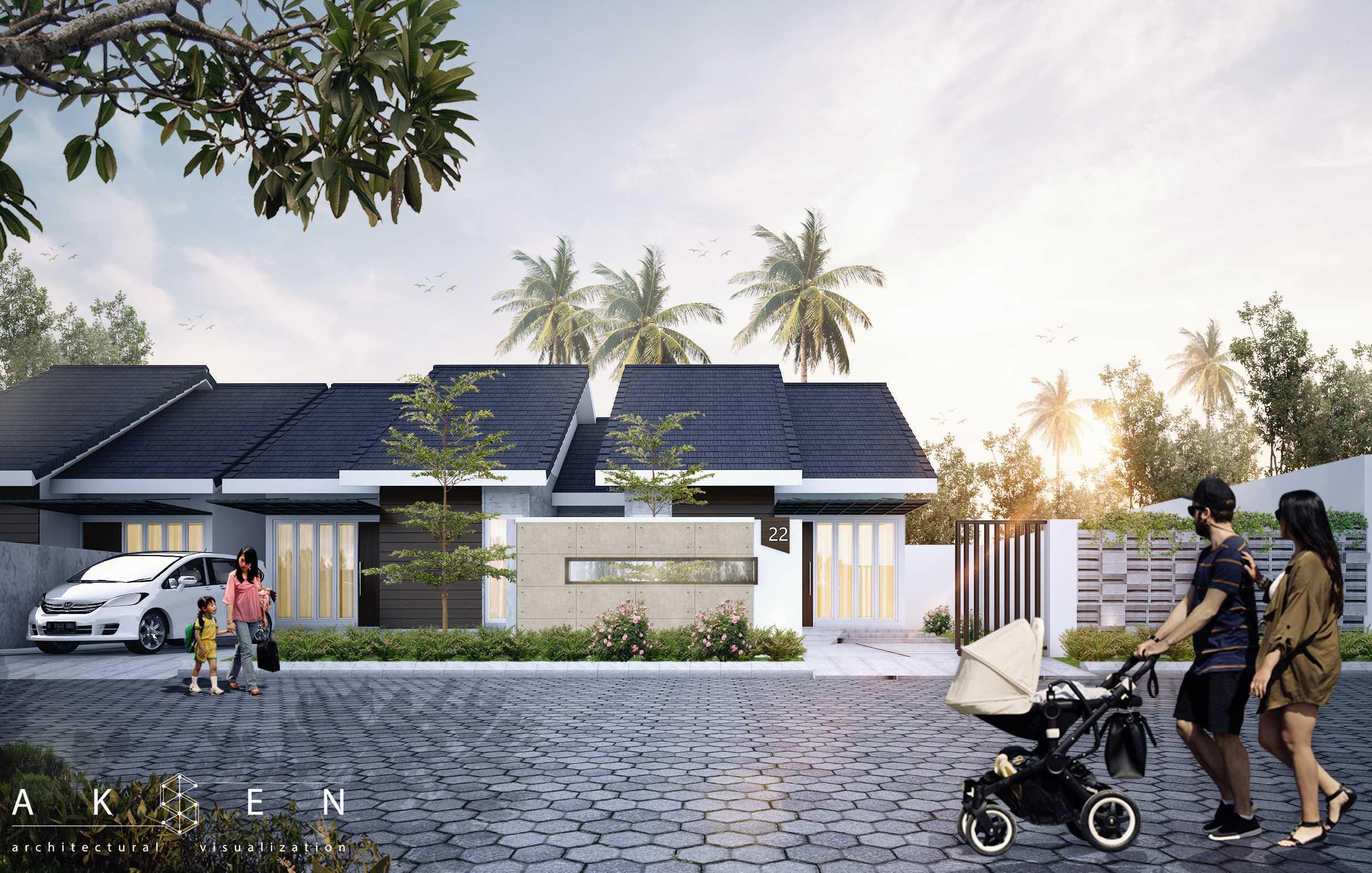 Aksen Architectural Visualization Fri House  Malang, Kota Malang, Jawa Timur, Indonesia Malang, Kota Malang, Jawa Timur, Indonesia Fri House - Front View Tropical  42543