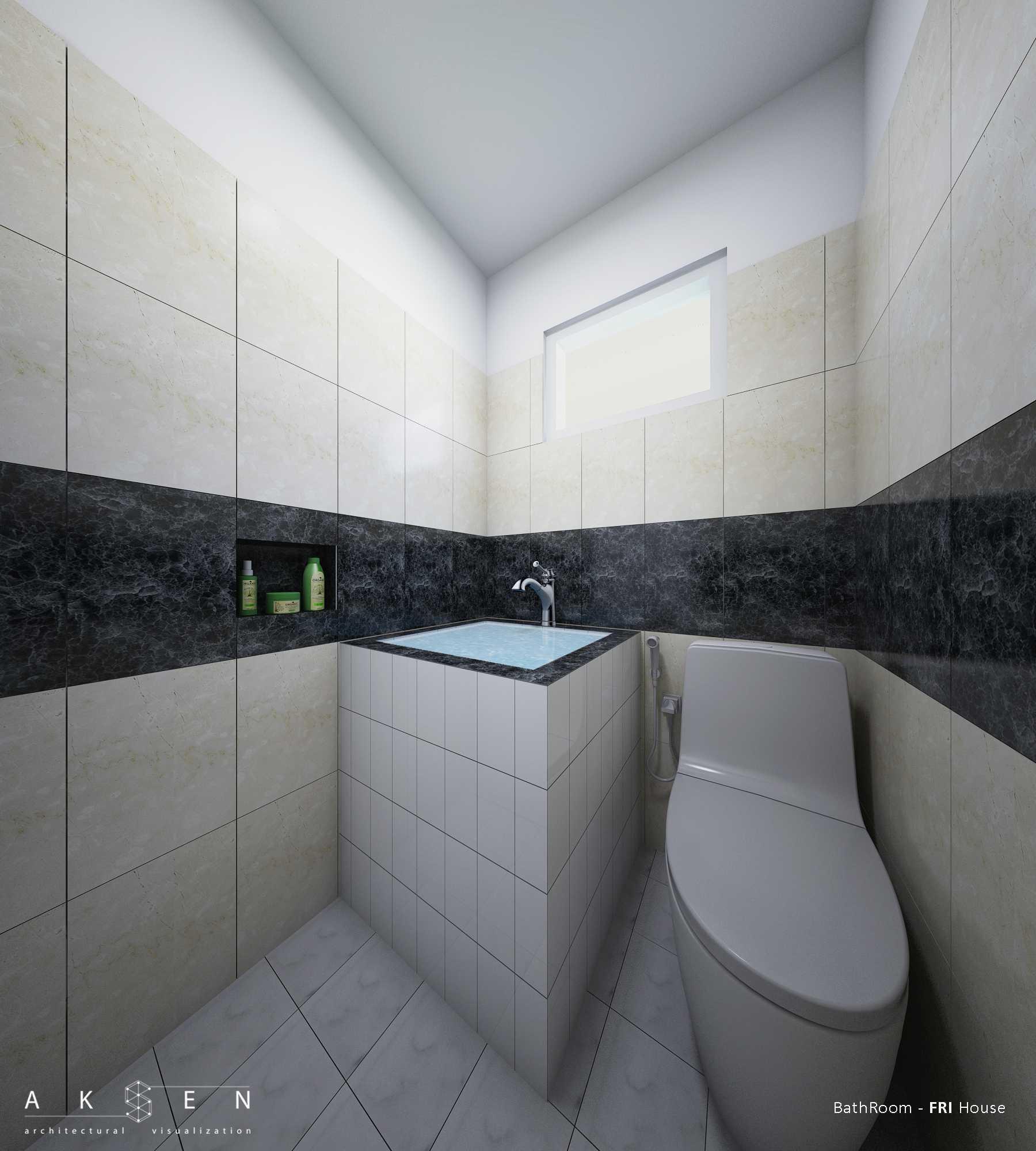 Aksen Architectural Visualization Fri House  Malang, Kota Malang, Jawa Timur, Indonesia Malang, Kota Malang, Jawa Timur, Indonesia Fri House - Bathroom Tropis  42591