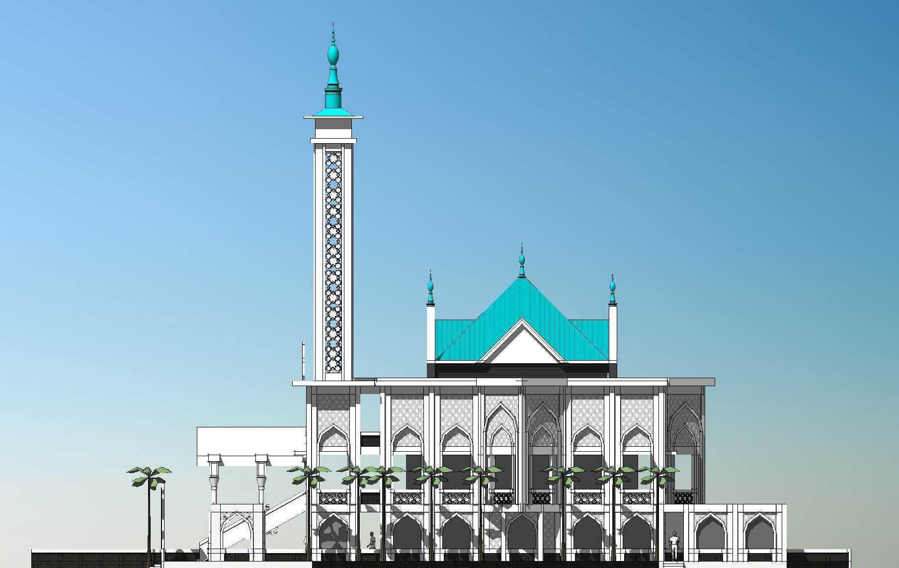 Arsigram Masjid At Serpong Serpong, Kota Tangerang Selatan, Banten, Indonesia Serpong, Kota Tangerang Selatan, Banten, Indonesia Side View Minimalis  42718