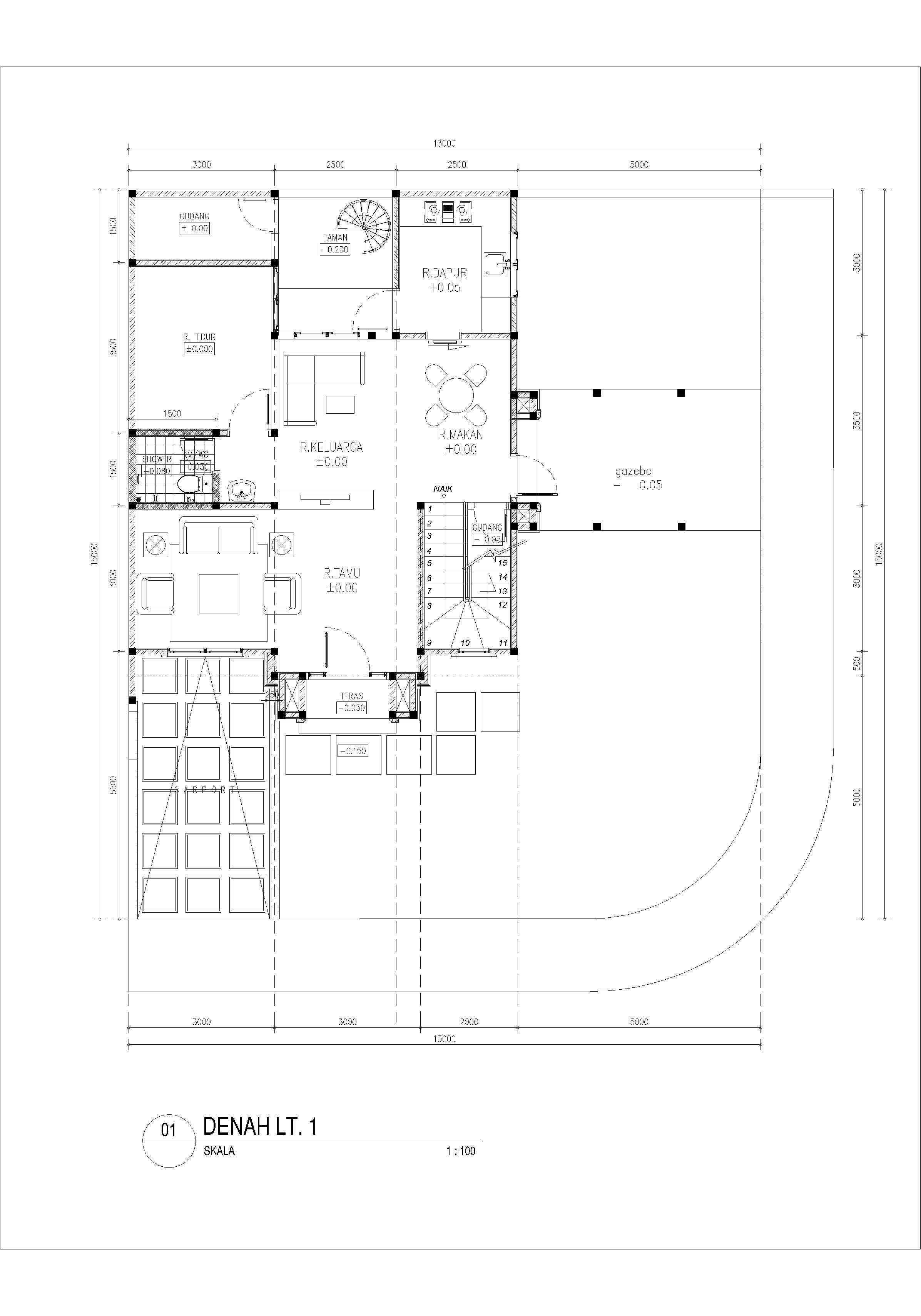 Yukatania Mandiri K Modern House Bandar Lampung, Kota Bandar Lampung, Lampung, Indonesia Bandar Lampung, Kota Bandar Lampung, Lampung, Indonesia Floorplan 1St Floor Modern  43758