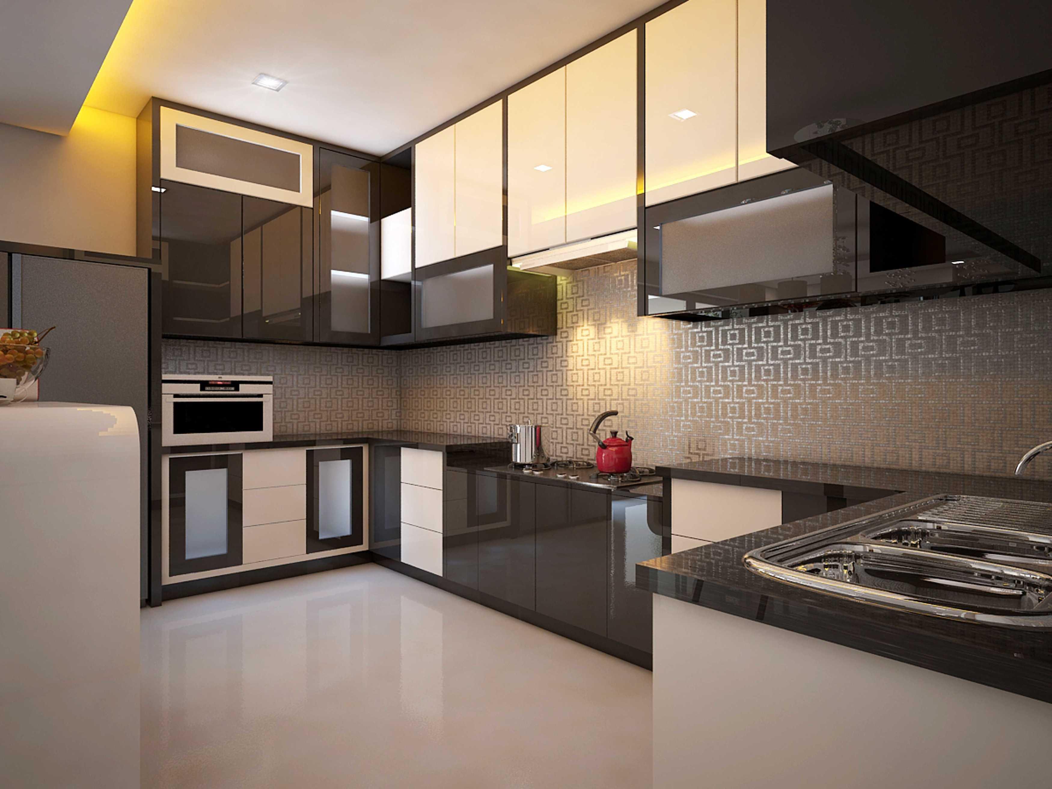 A2M Architect Indo S House Kota Makassar, Sulawesi Selatan, Indonesia Kota Makassar, Sulawesi Selatan, Indonesia Kitchen Room Modern  43625