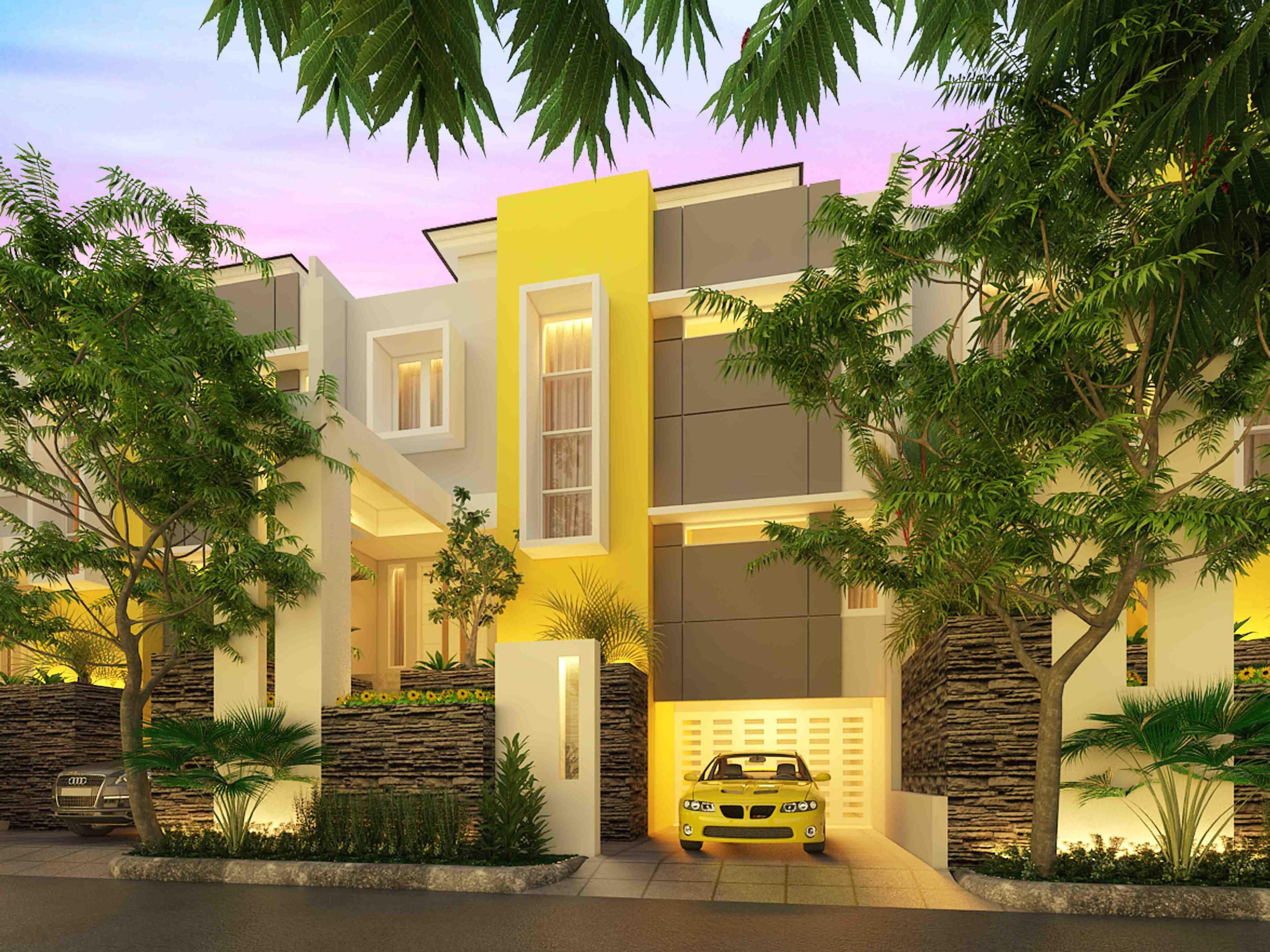 A2M Architect Indo Hera Permata Residence Balikpapan Kota Balikpapan, Kalimantan Timur, Indonesia Kota Balikpapan, Kalimantan Timur, Indonesia Front View Rendering   43670