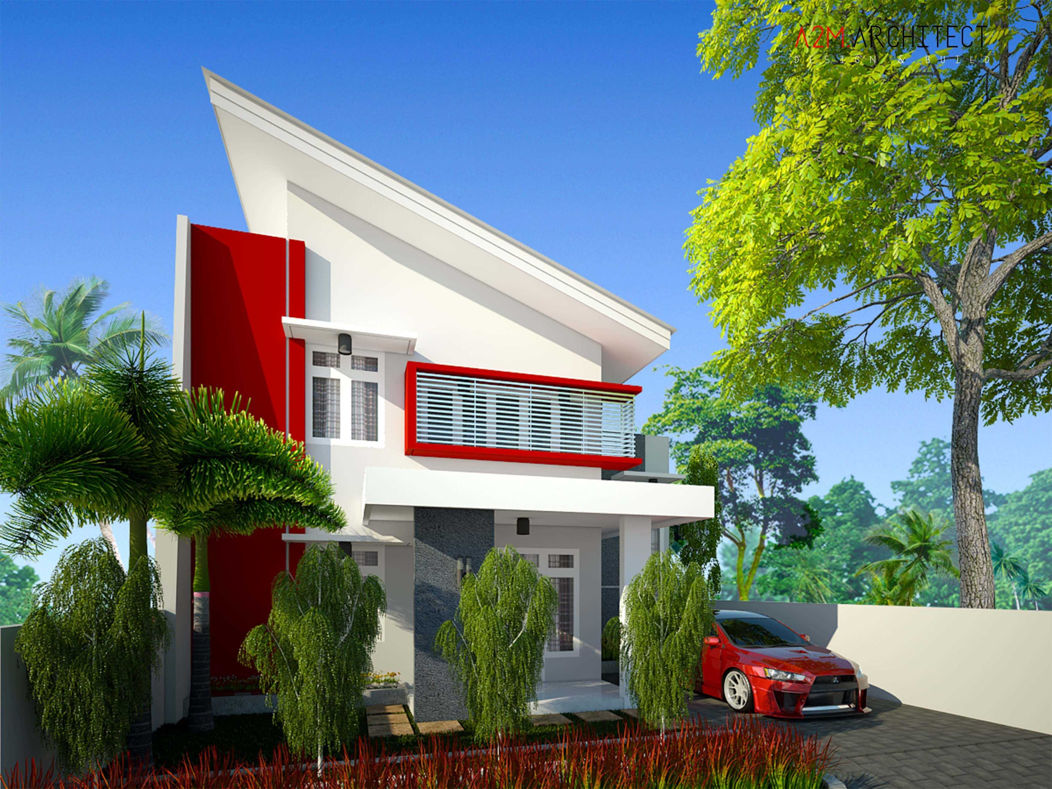 A2M Architect Indo H R House Kota Makassar, Sulawesi Selatan, Indonesia Kota Makassar, Sulawesi Selatan, Indonesia Facade View Contemporary  46515