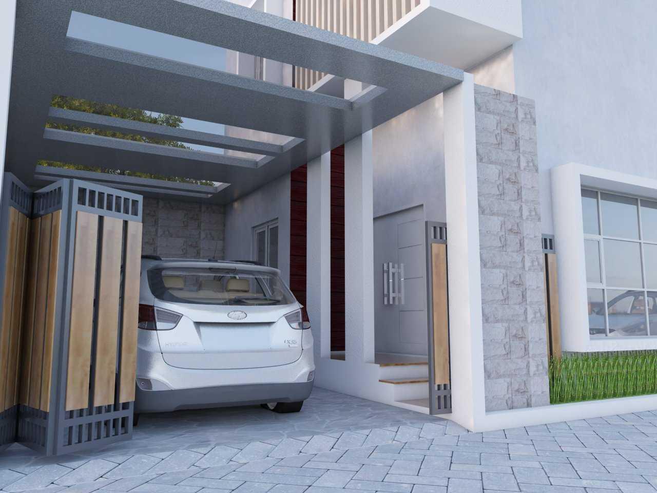 Photo Carport Area Desain Rumah Tropis di Kebumen 5 desain ...
