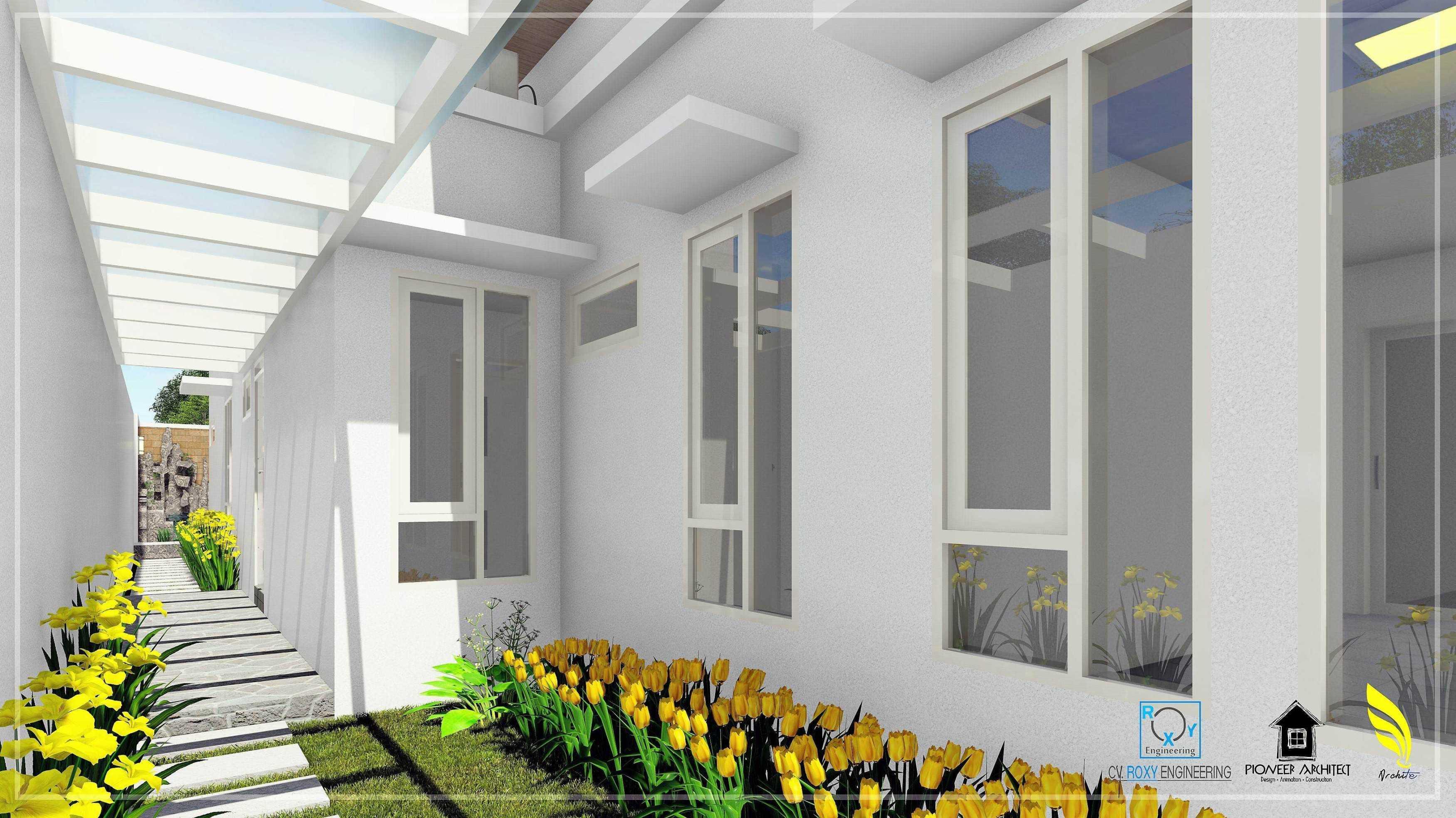 Pionner Architect J Modern House Banda Aceh, Kota Banda Aceh, Aceh, Indonesia Banda Aceh, Kota Banda Aceh, Aceh, Indonesia Suasana Taman Dan Akses Pintu Samping Bangunan Modern  43242