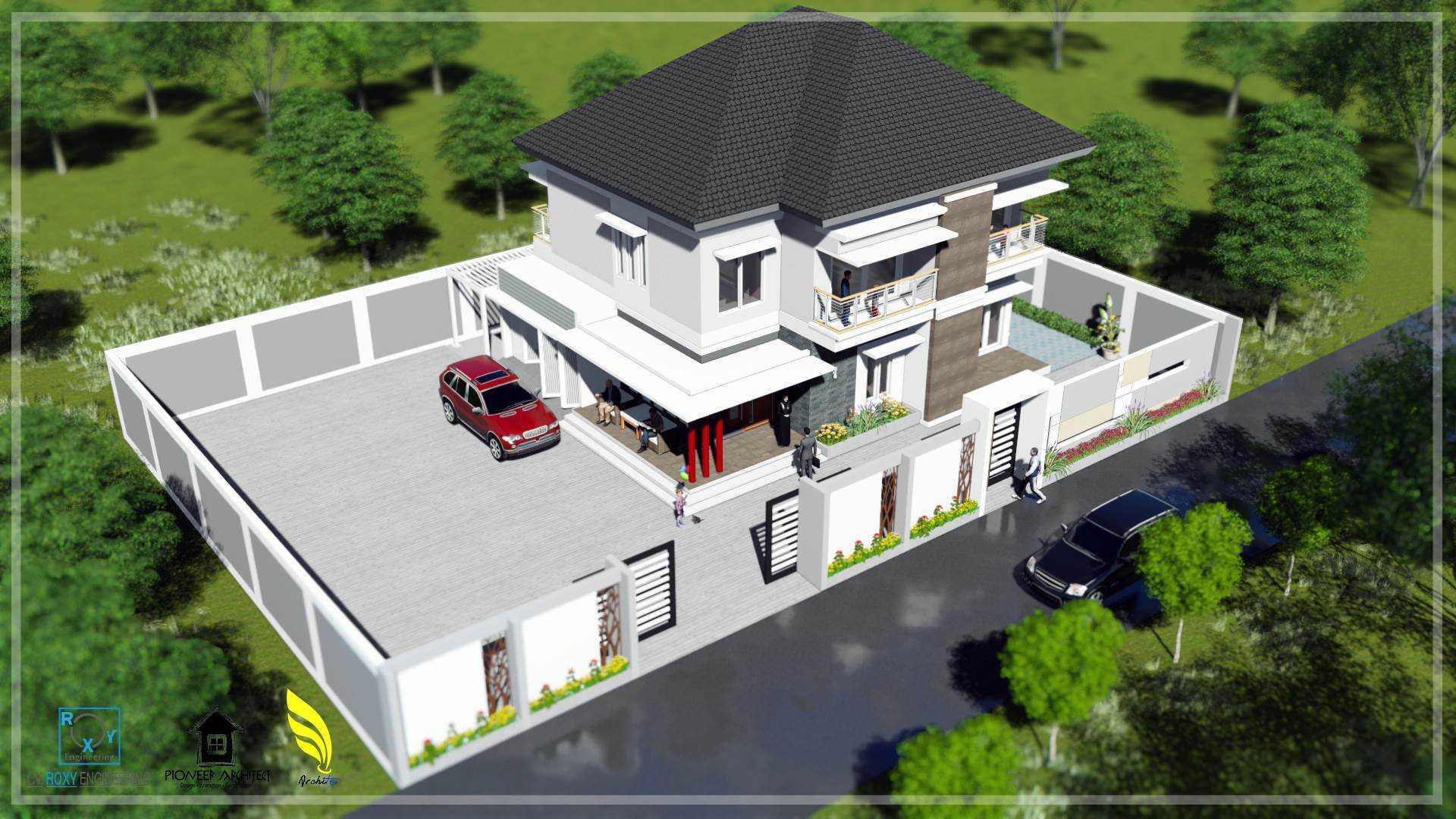 Pionner Architect N House Banda Aceh, Kota Banda Aceh, Aceh, Indonesia Banda Aceh, Kota Banda Aceh, Aceh, Indonesia Perspektif Depan Modern  43281